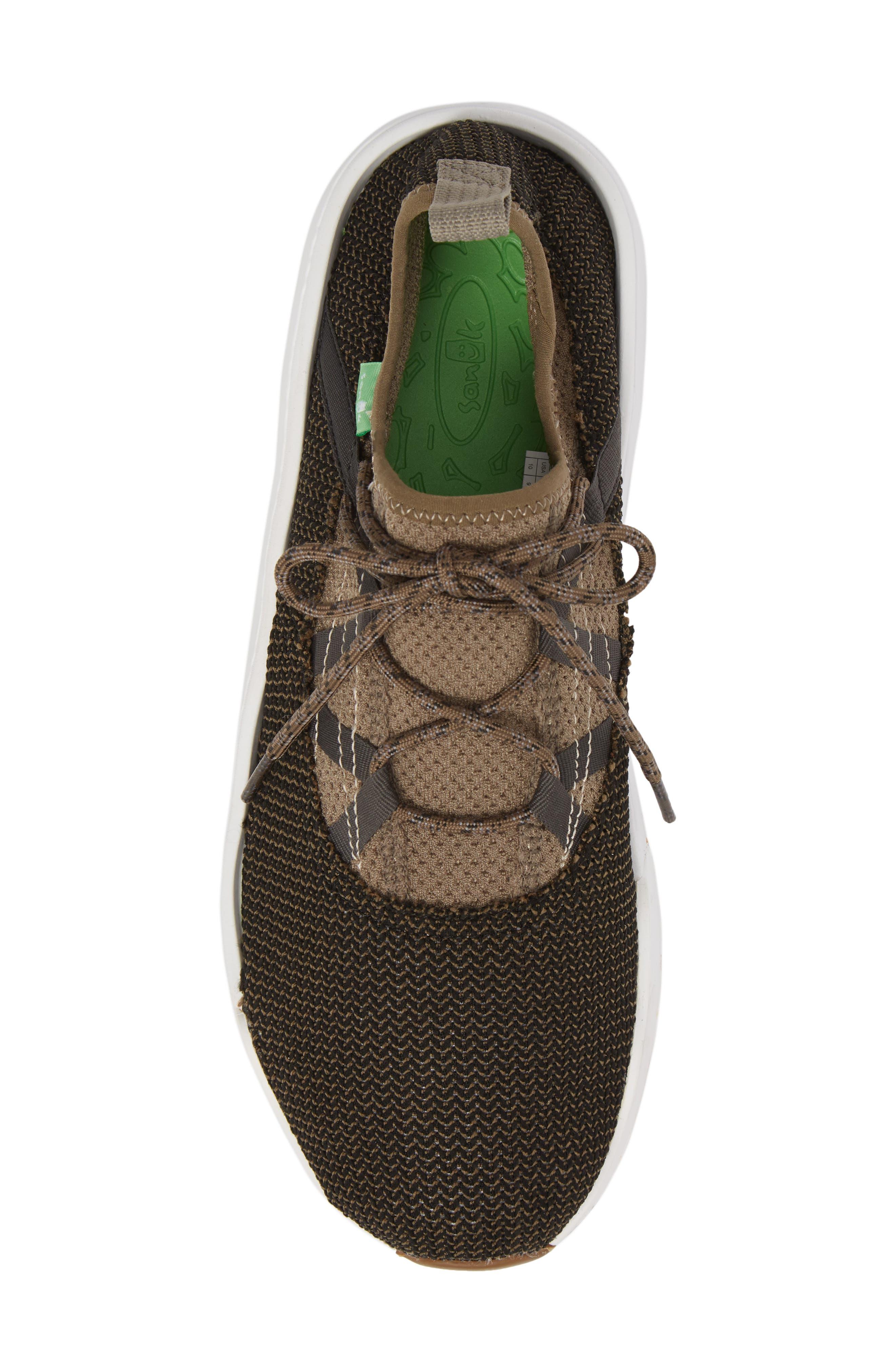 Chiba Quest Knit Sneaker,                             Alternate thumbnail 6, color,                             Brindle/ Black
