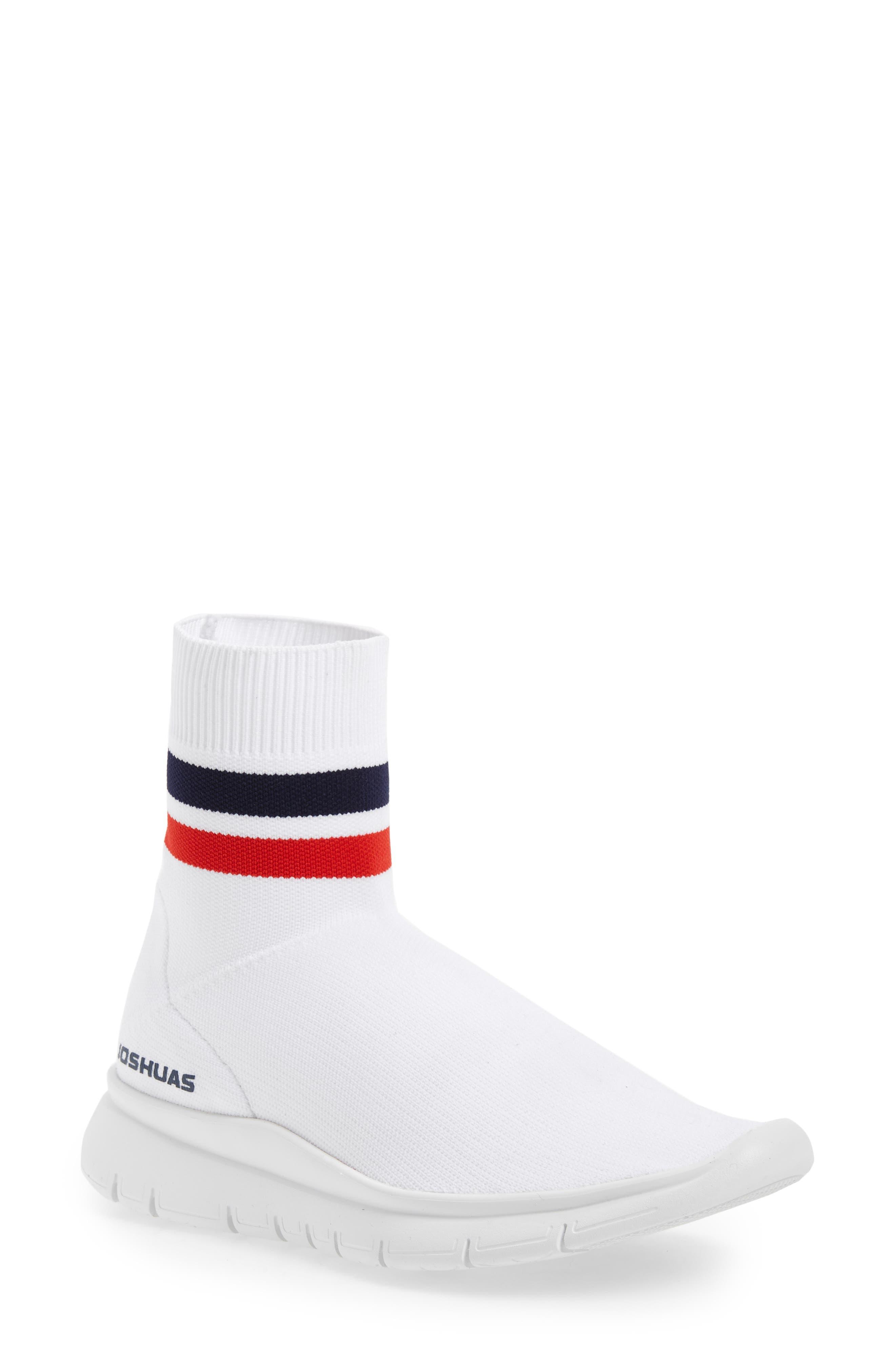 Jump High Top Sock Sneaker,                             Main thumbnail 1, color,                             White