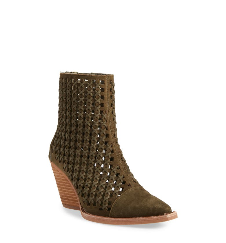 b857bc7a321a2 JEFFREY CAMPBELL OAKWOOD PERFORATED BOOTIE