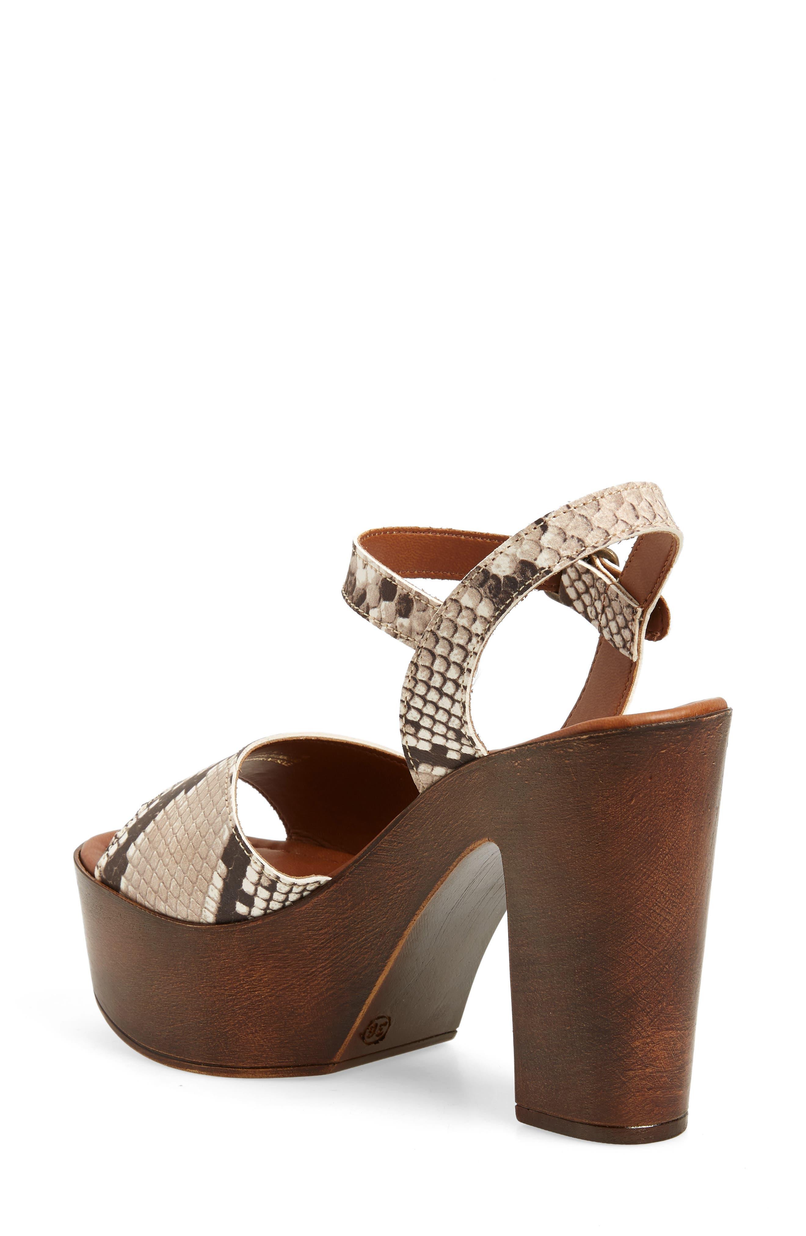 Lulla Platform Sandal,                             Alternate thumbnail 2, color,                             White Reptile