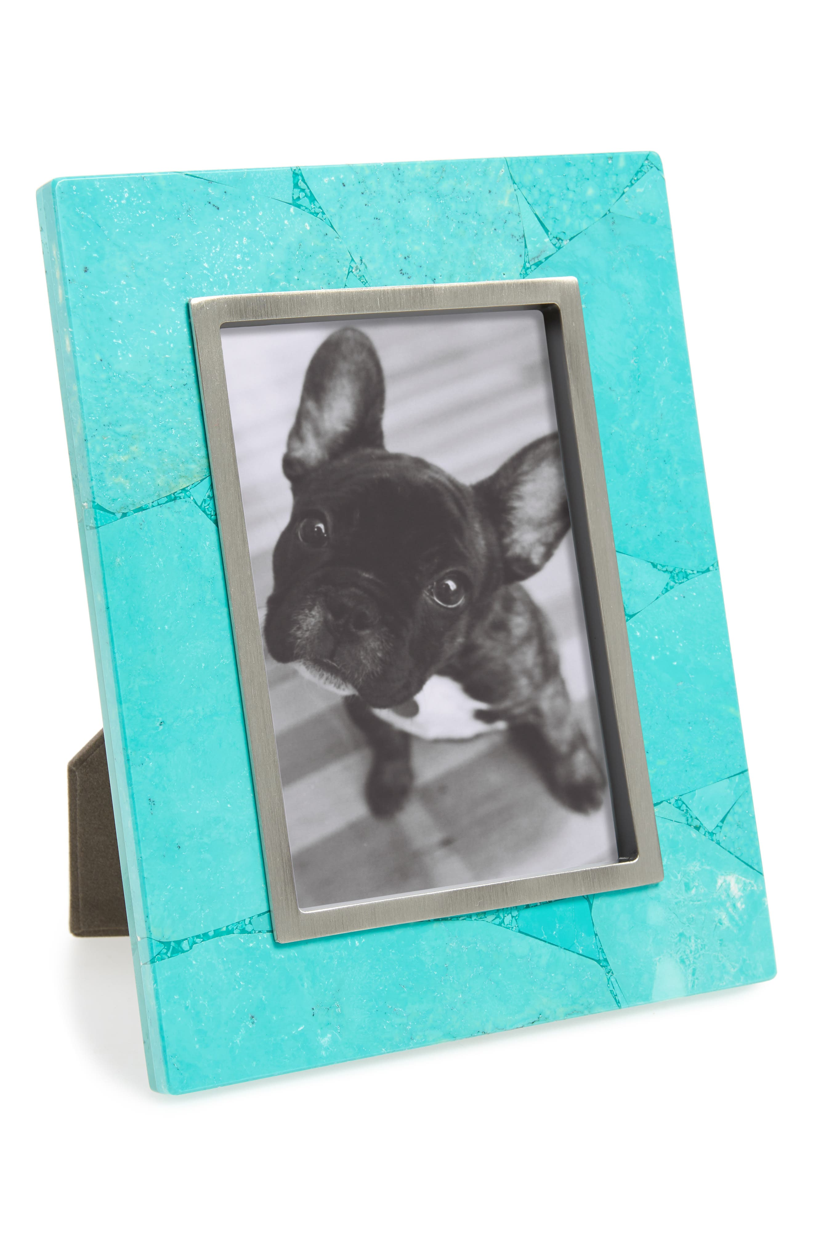 Stone Slab Picture Frame,                             Main thumbnail 1, color,                             Variegated Teal