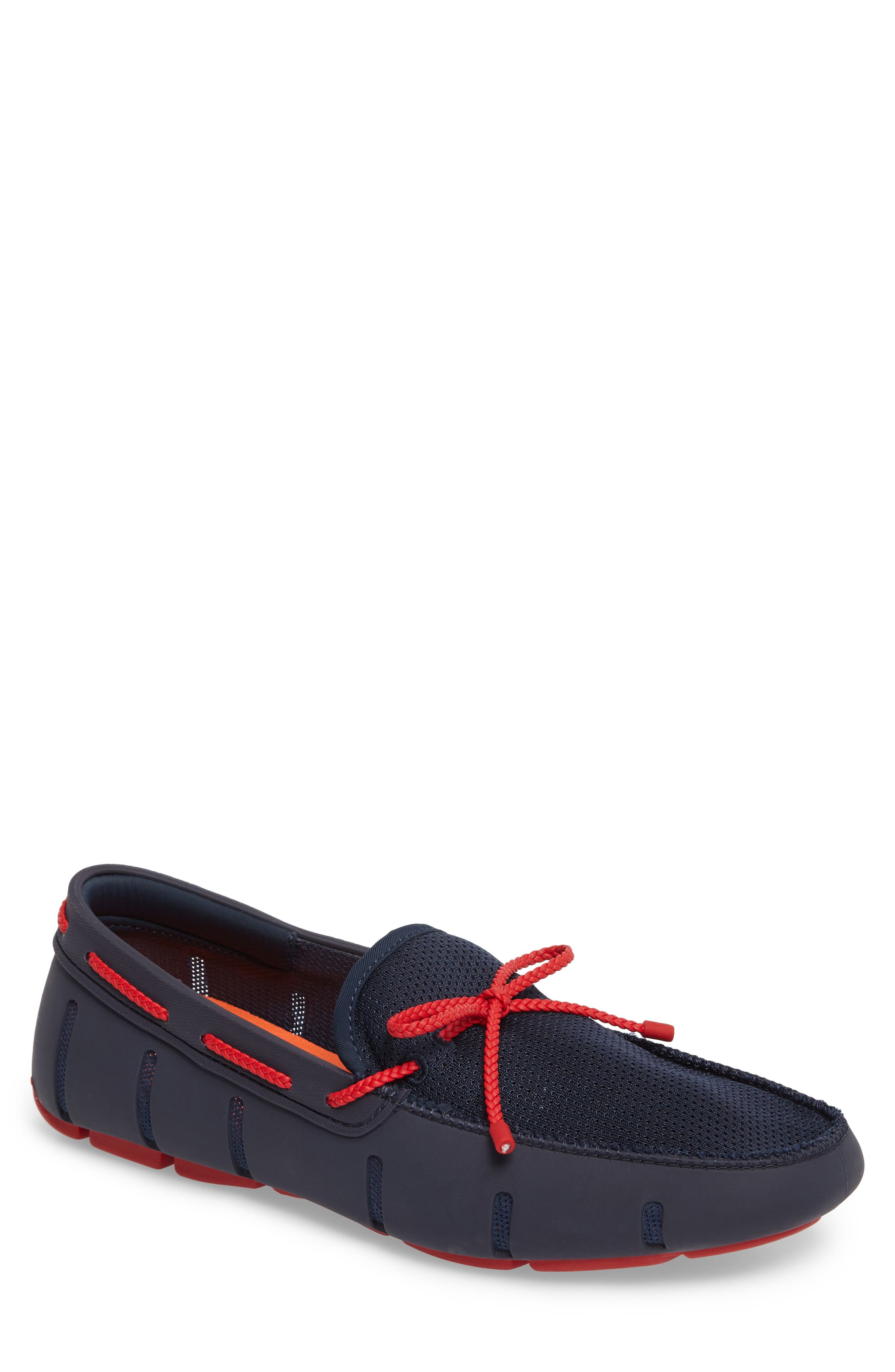 Lace Loafer,                             Main thumbnail 1, color,                             Navy/ Navy/ Red