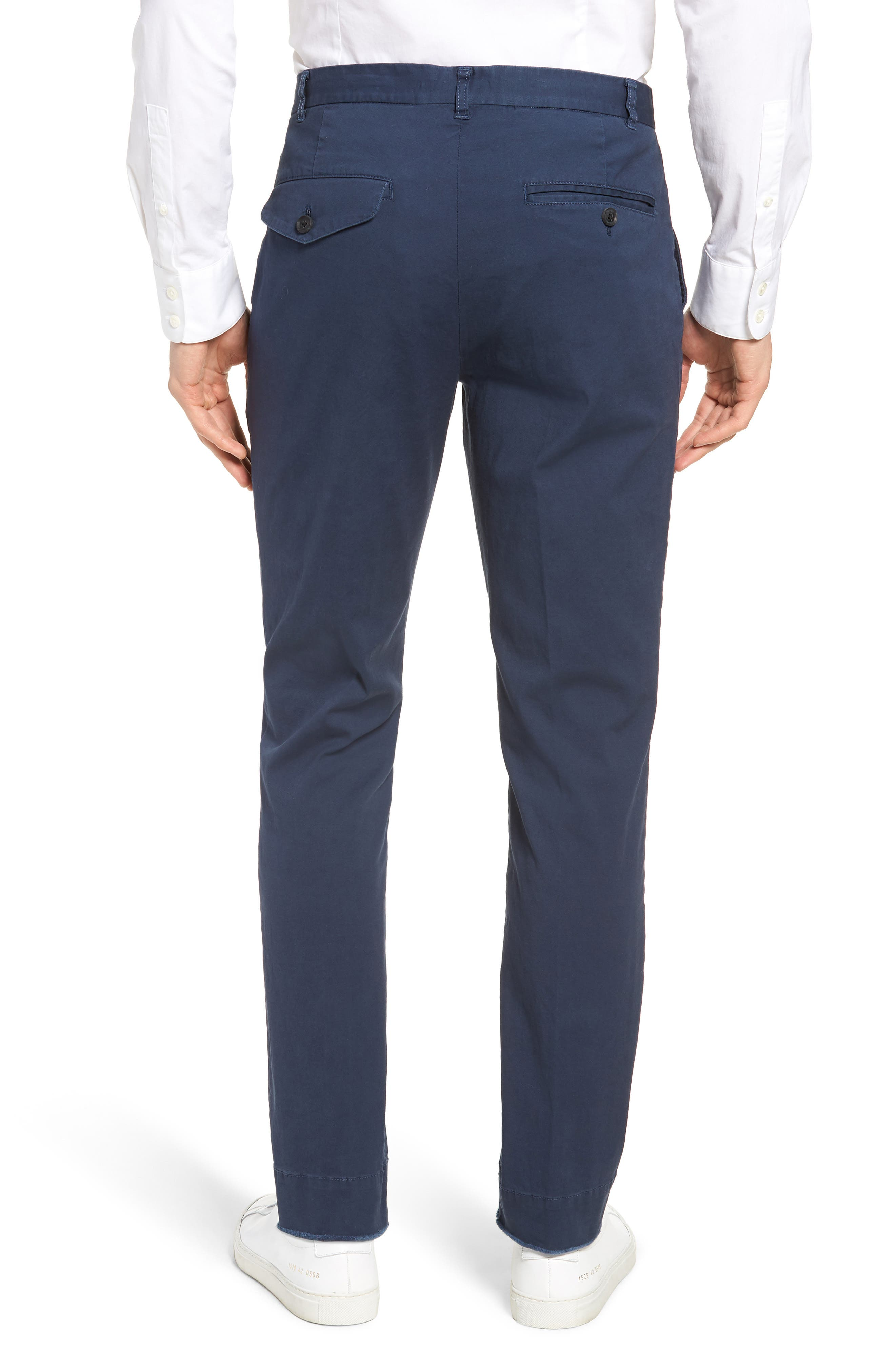 Slim Fit Stretch Twill Pants,                             Alternate thumbnail 2, color,                             Navy