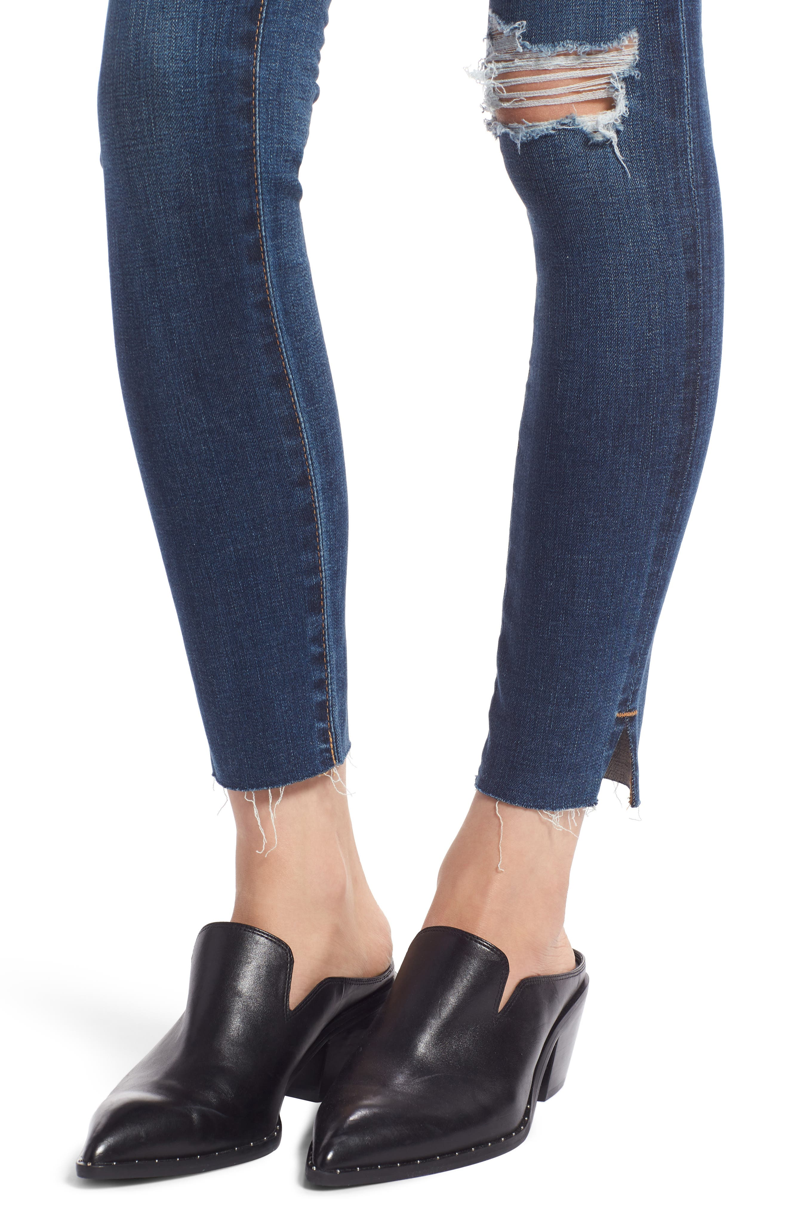 The Legging Ripped Ankle Skinny Jeans,                             Alternate thumbnail 4, color,                             04 Years Lucid Quartz