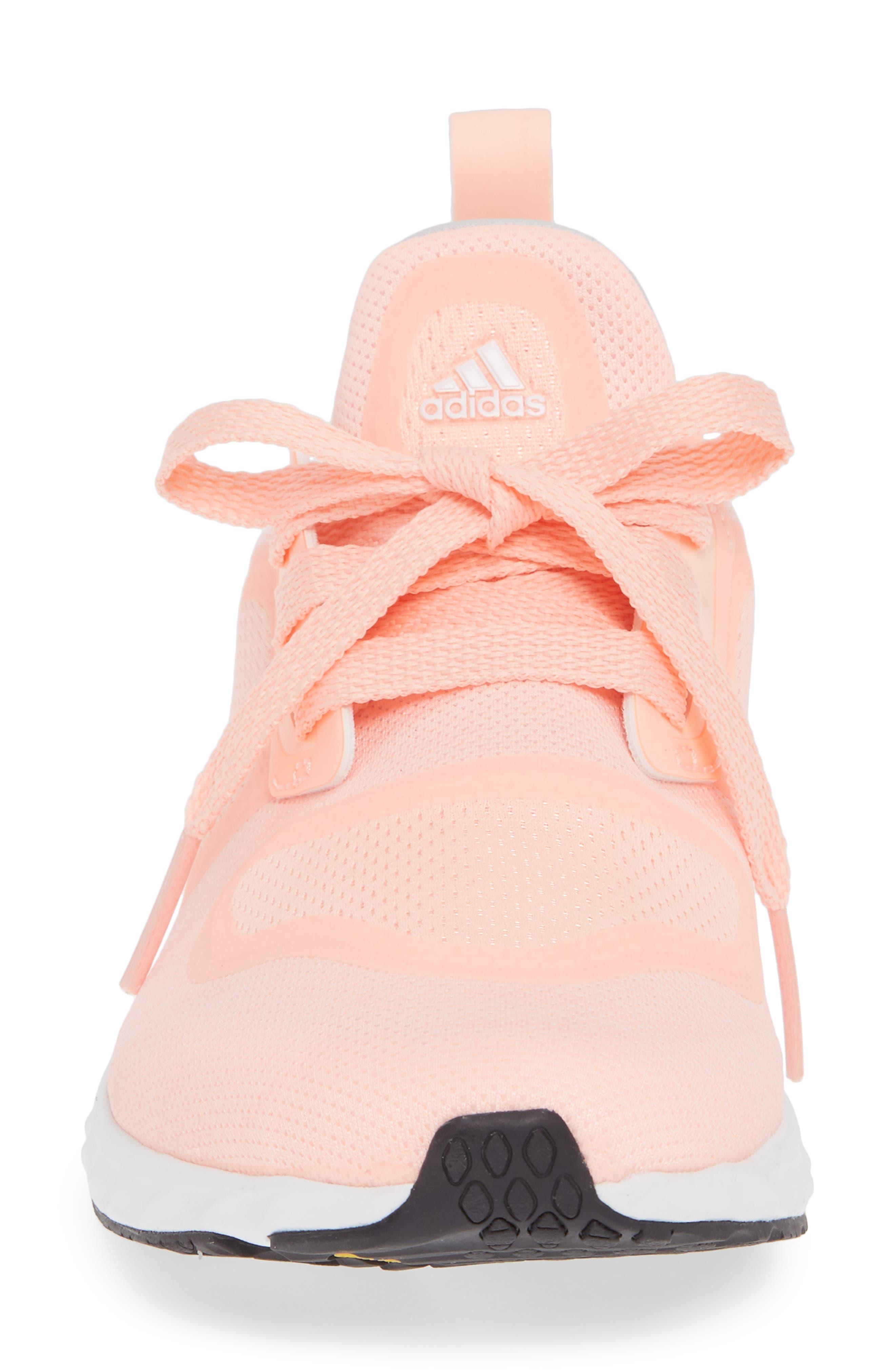 Edge Lux Clima Running Shoe,                             Alternate thumbnail 4, color,                             Clear Orange/ White