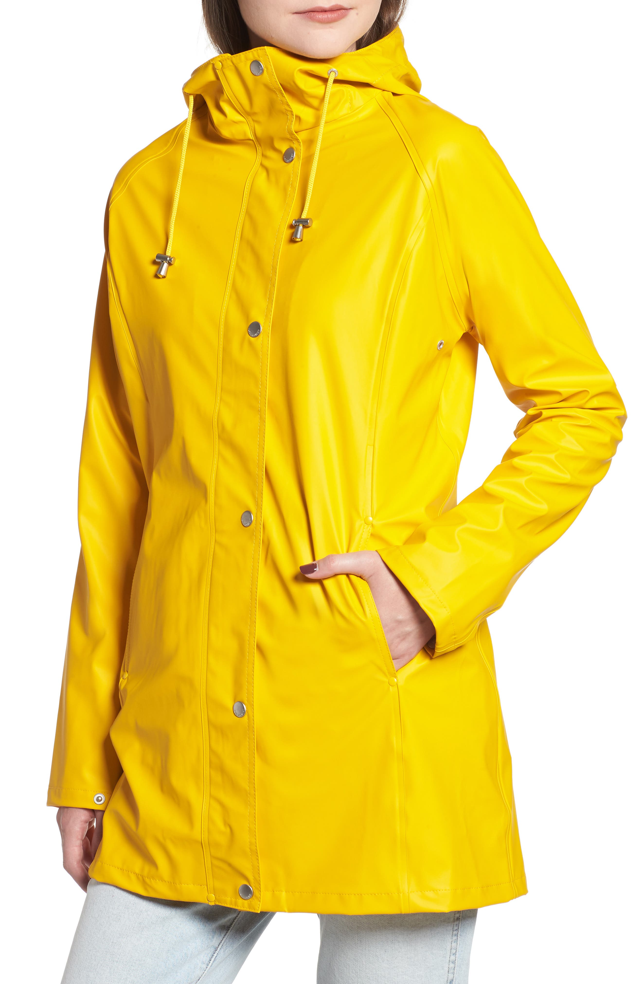 Illse Jacobsen Hornbaek Raincoat,                             Alternate thumbnail 3, color,                             Cyber Yellow