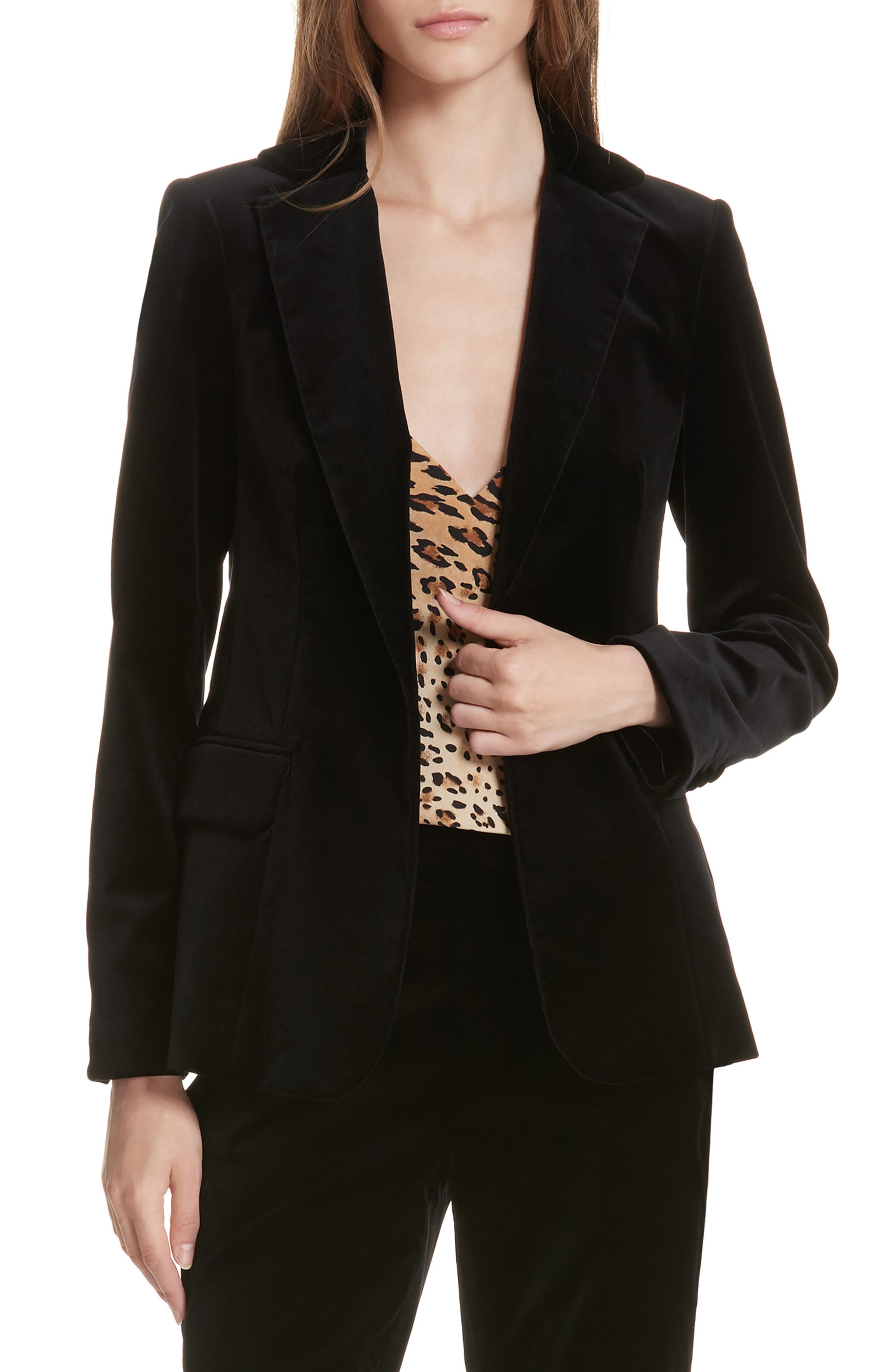 STRETCH VELVET BLAZER