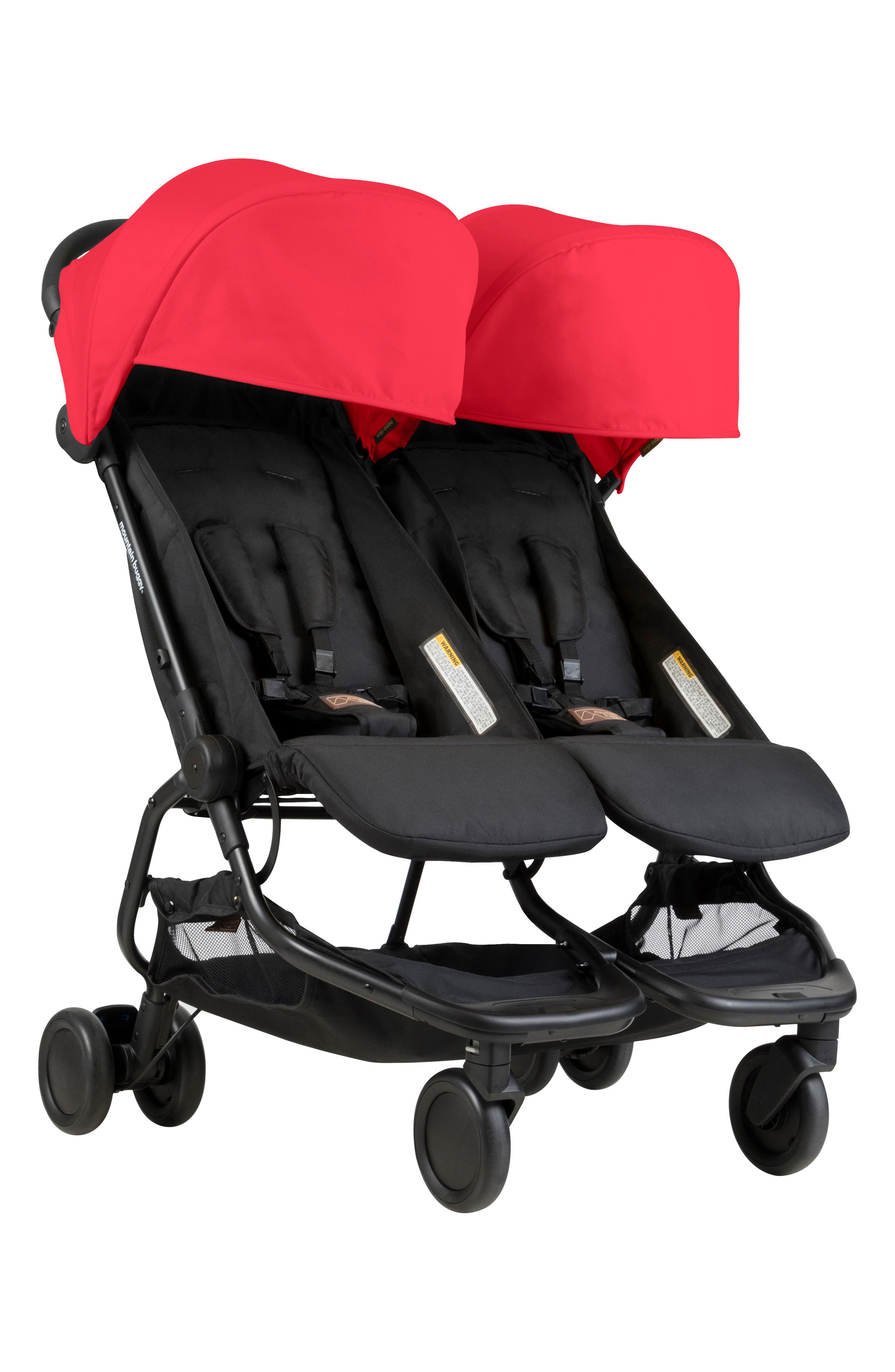 Nano Duo Double Stroller,                         Main,                         color, Ruby