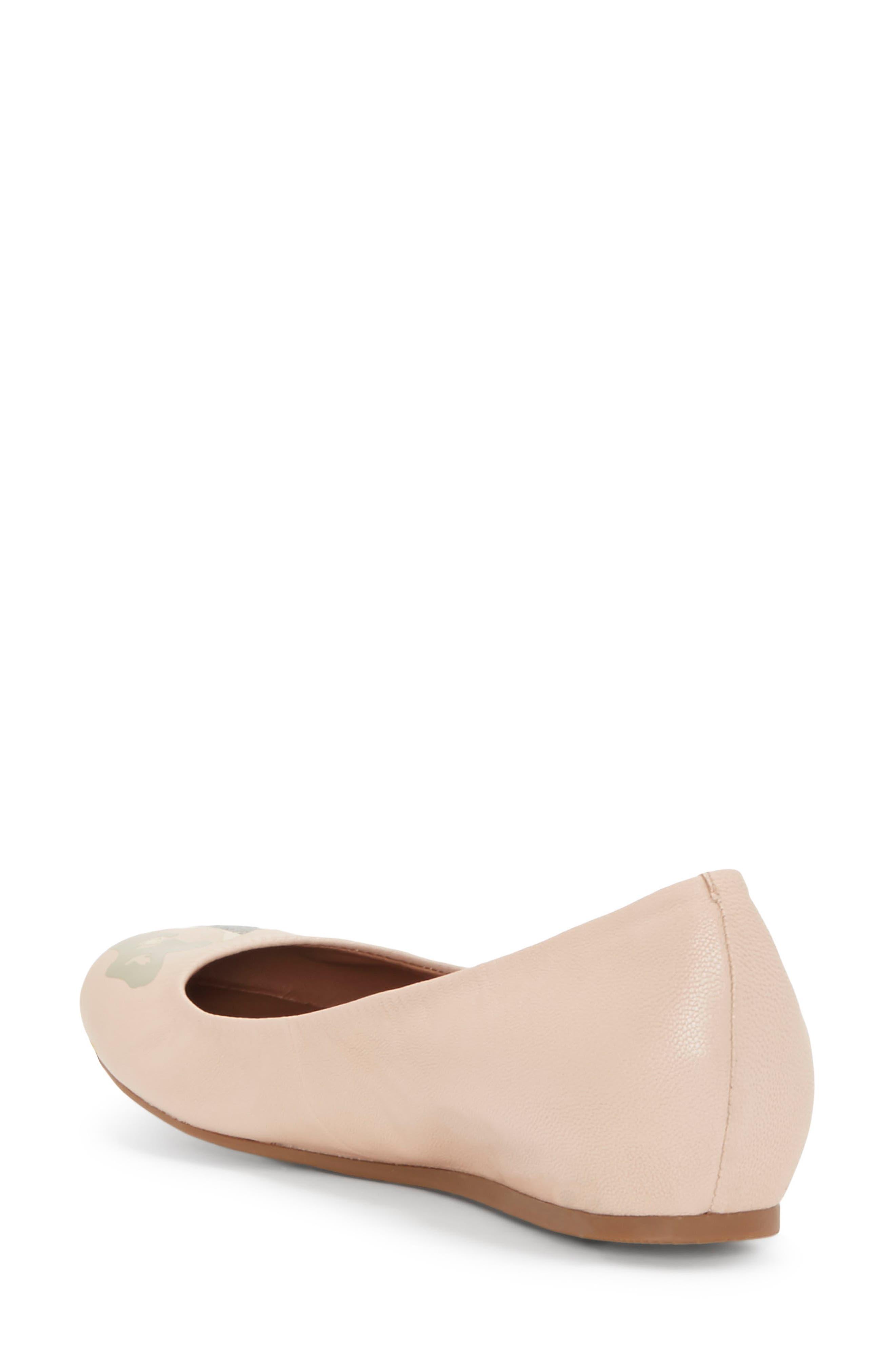 'Langston' Ballet Flat,                             Alternate thumbnail 3, color,                             Misty Rose Leather