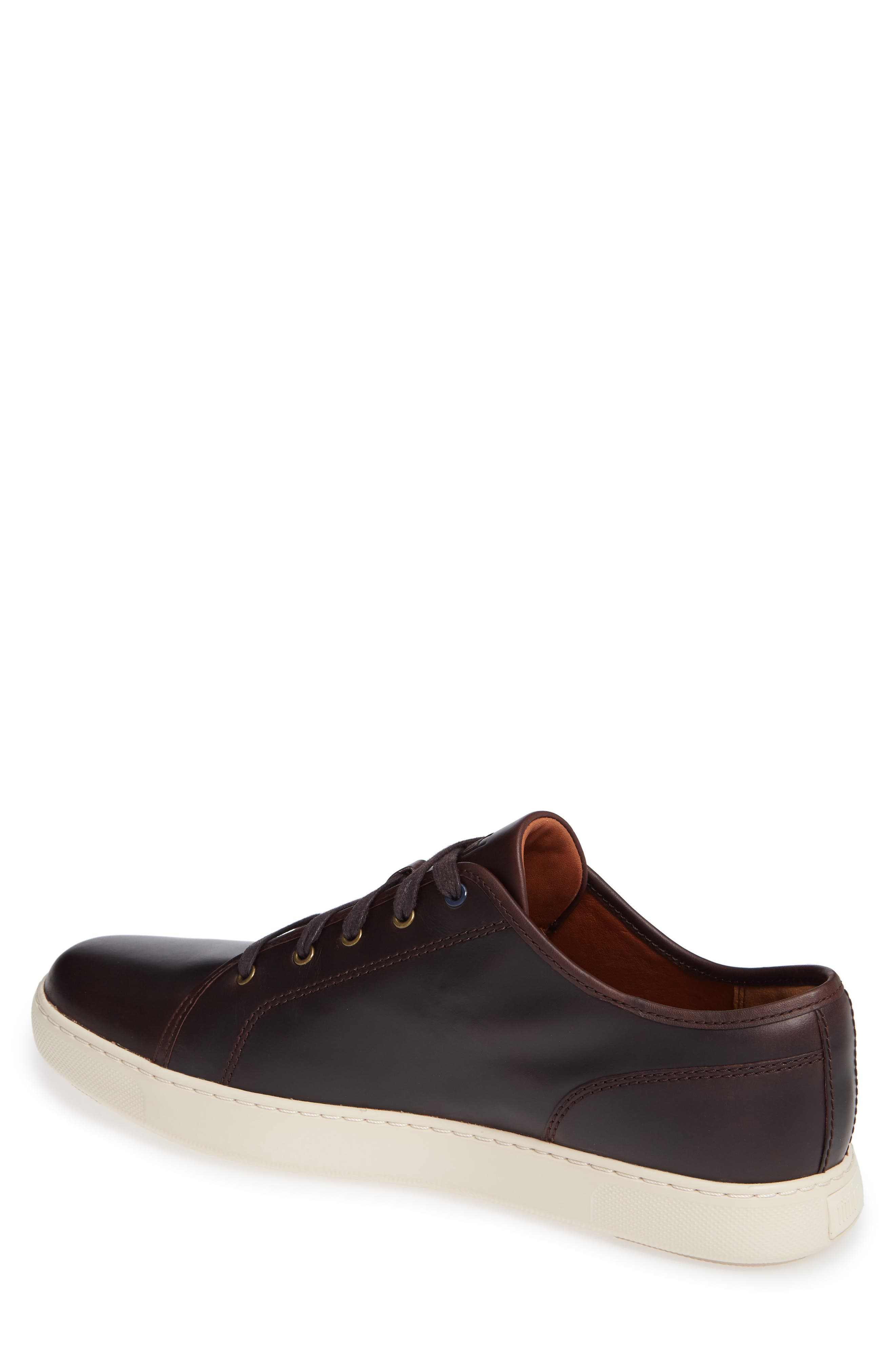 Christophe Low Top Sneaker,                             Alternate thumbnail 2, color,                             Dark Oxblood