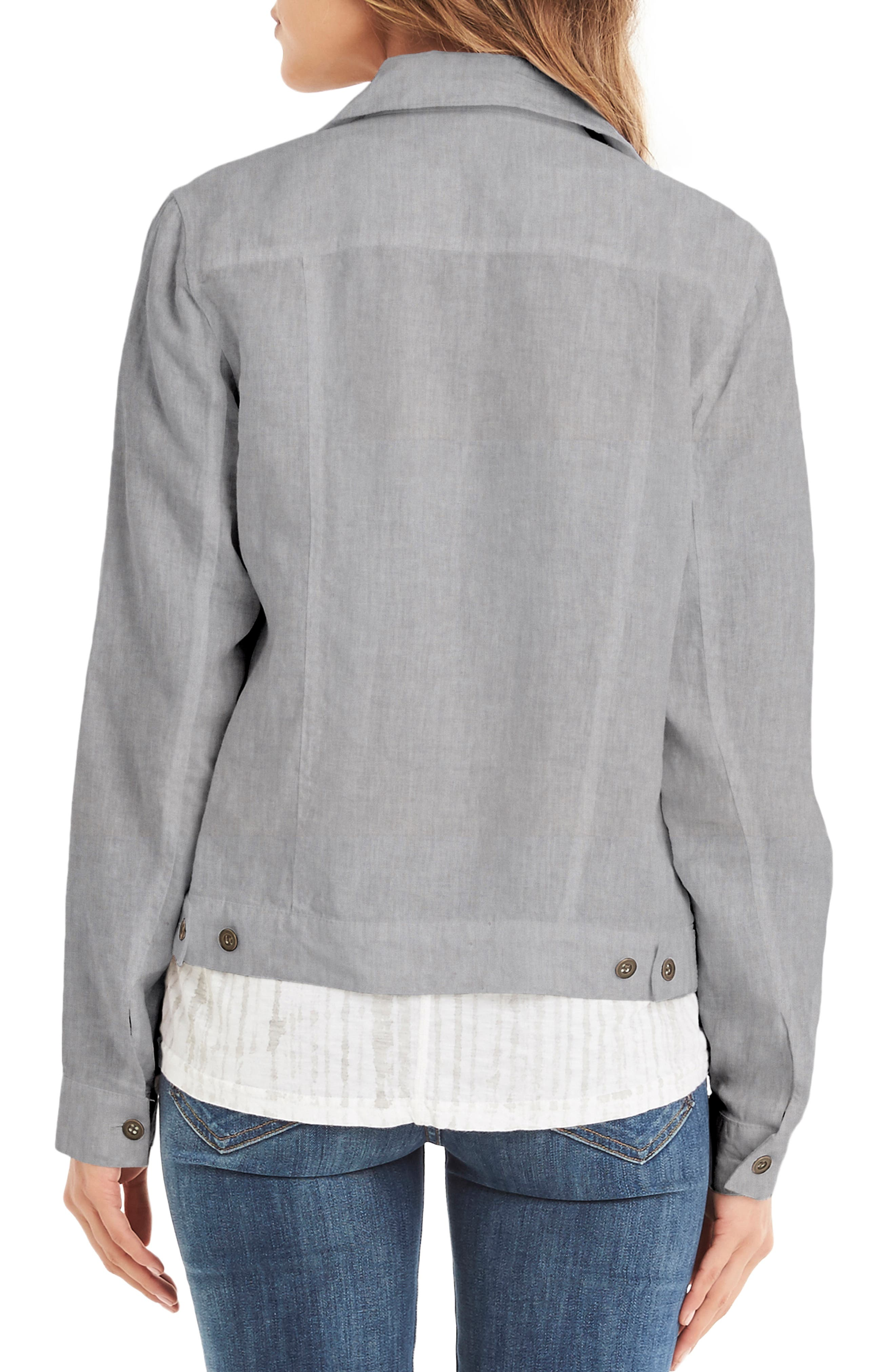 Linen Denim Jacket,                             Alternate thumbnail 2, color,                             Galvanized