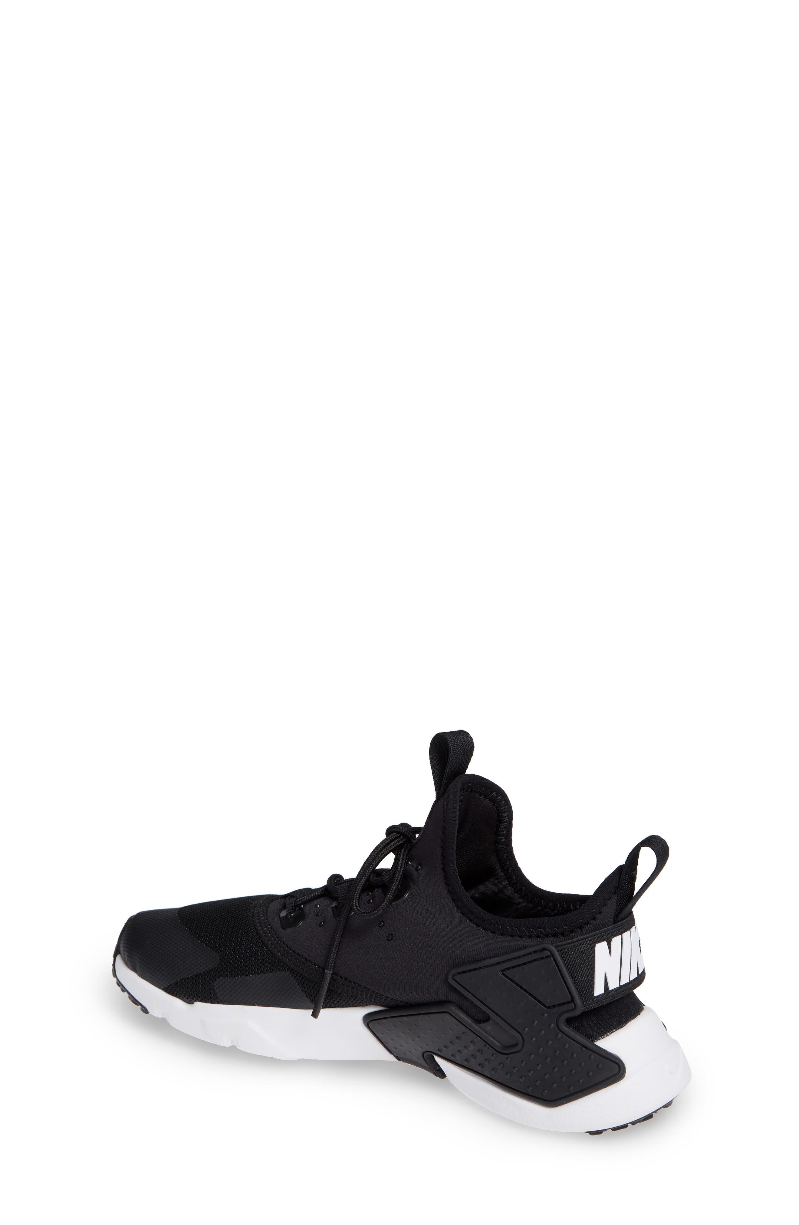 Huarache Run Drift Sneaker,                             Alternate thumbnail 4, color,                             Black/ Anthracite