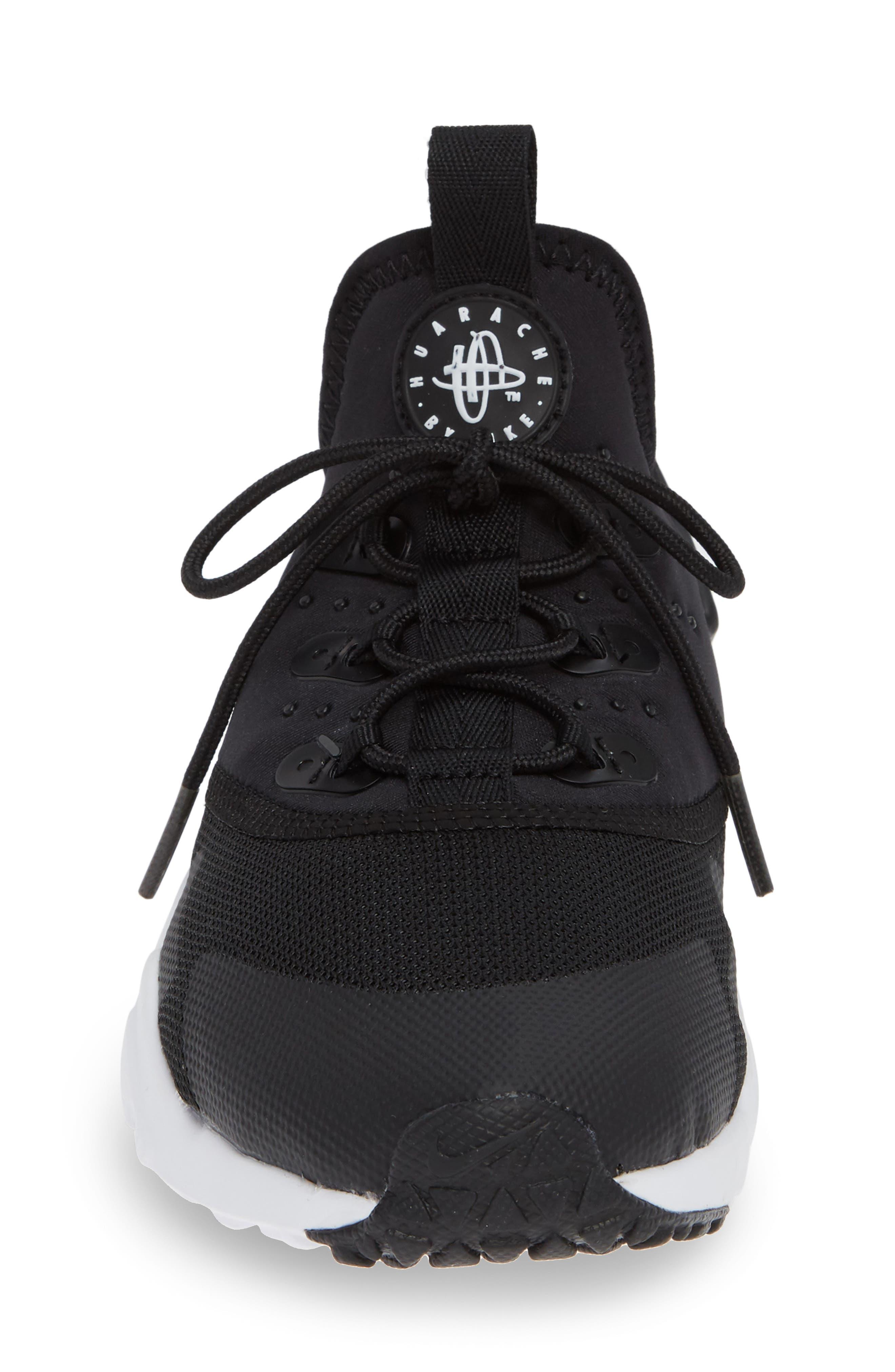 Huarache Run Drift Sneaker,                             Alternate thumbnail 6, color,                             Black/ Anthracite