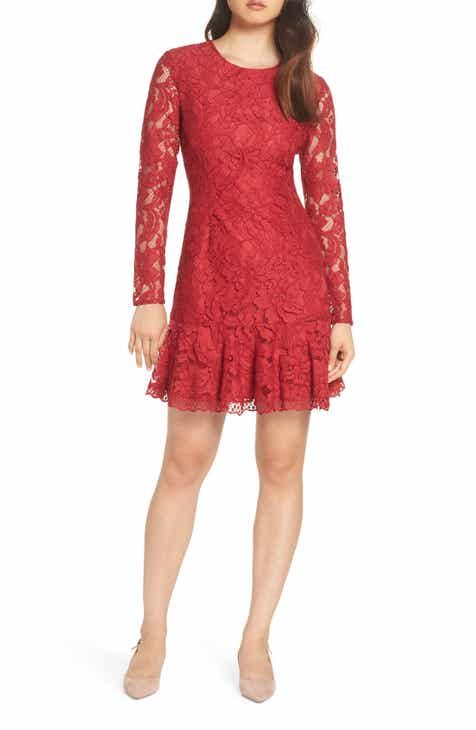 Forest Lily Lace Fit & Flare Dress by FOREST LILY
