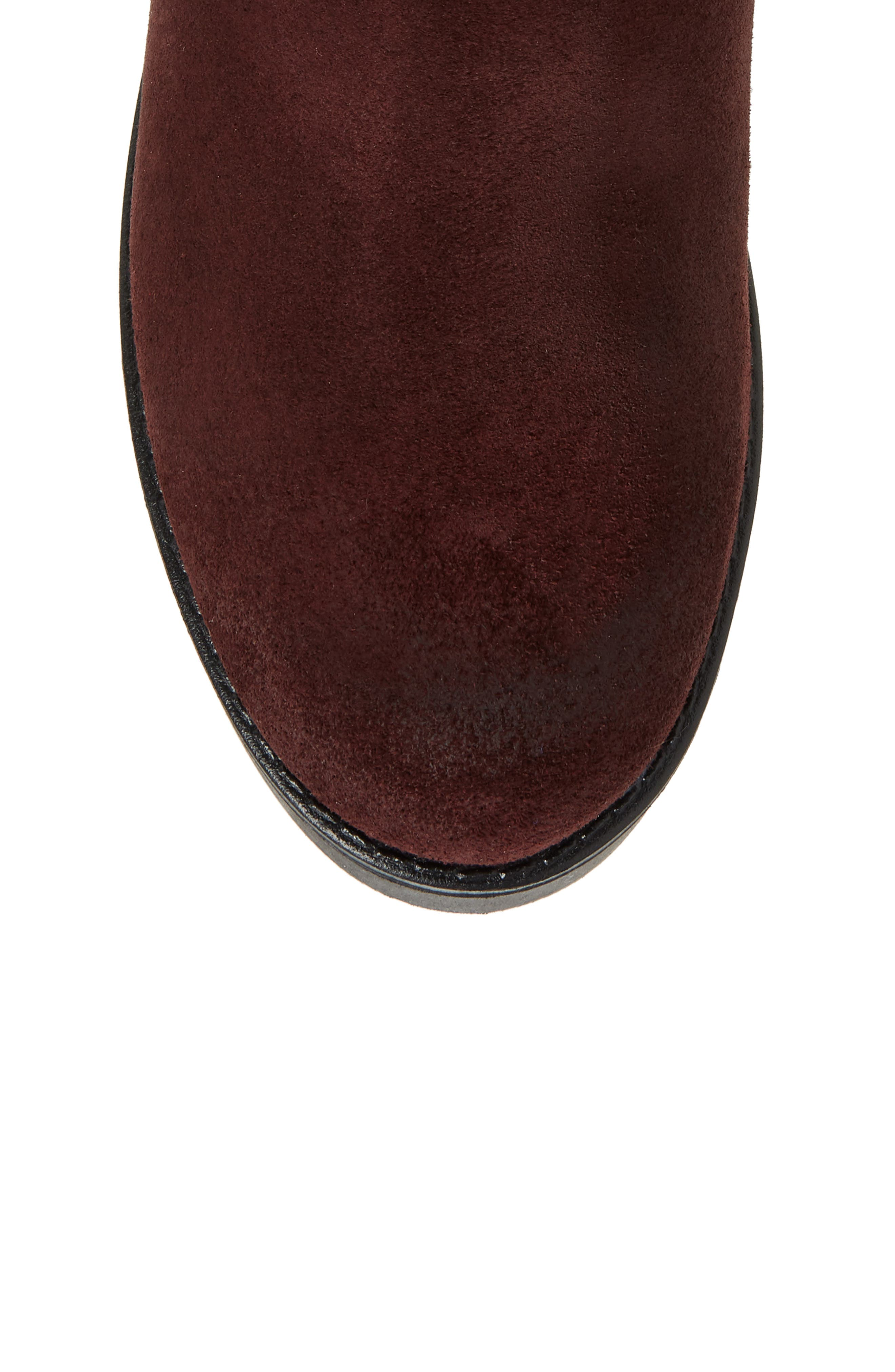 Graham Waterproof Winter Boot with Faux Fur Cuff,                             Alternate thumbnail 5, color,                             Wine Suede