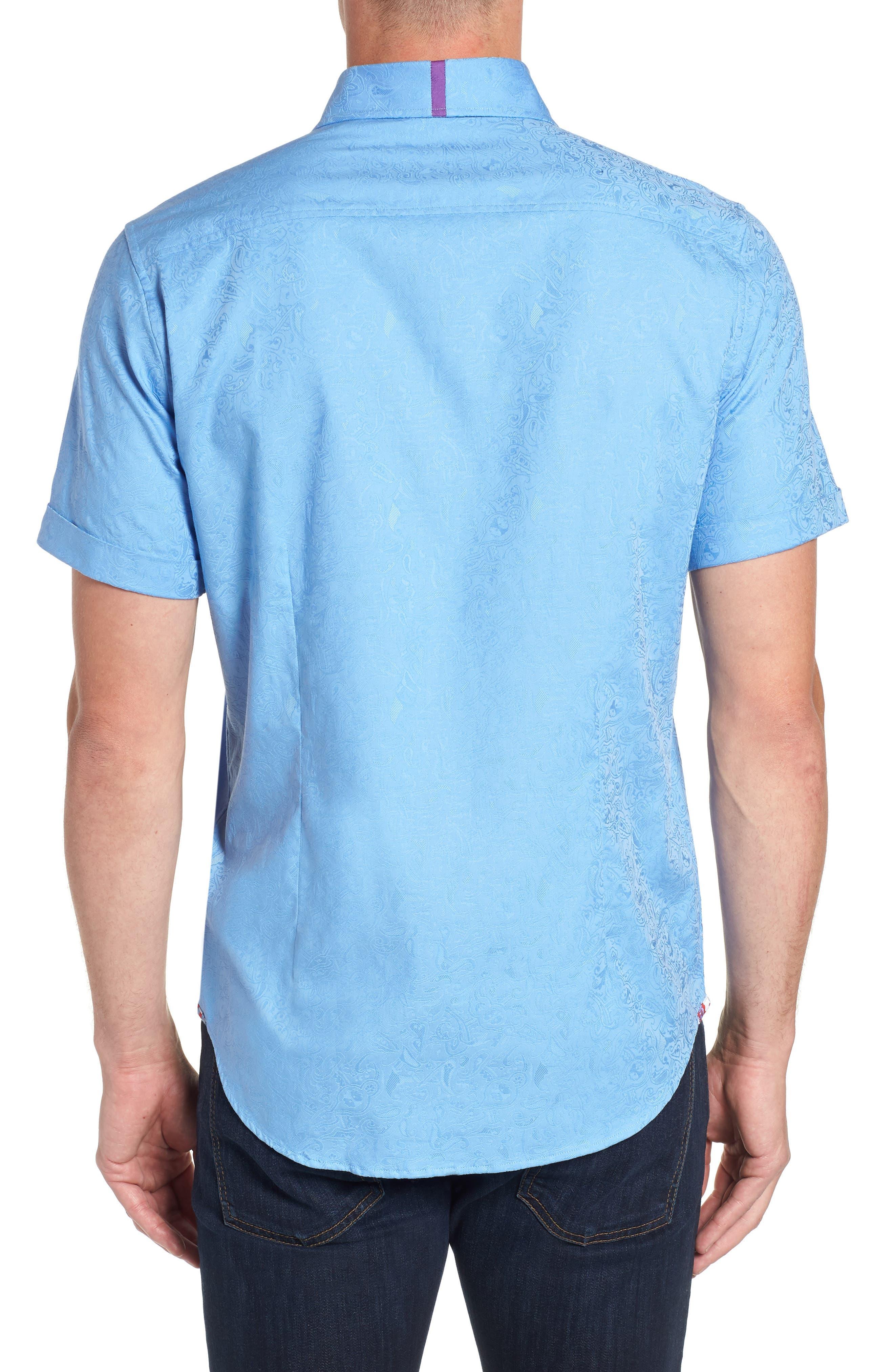 Abbott Sport Shirt,                             Alternate thumbnail 3, color,                             Blue