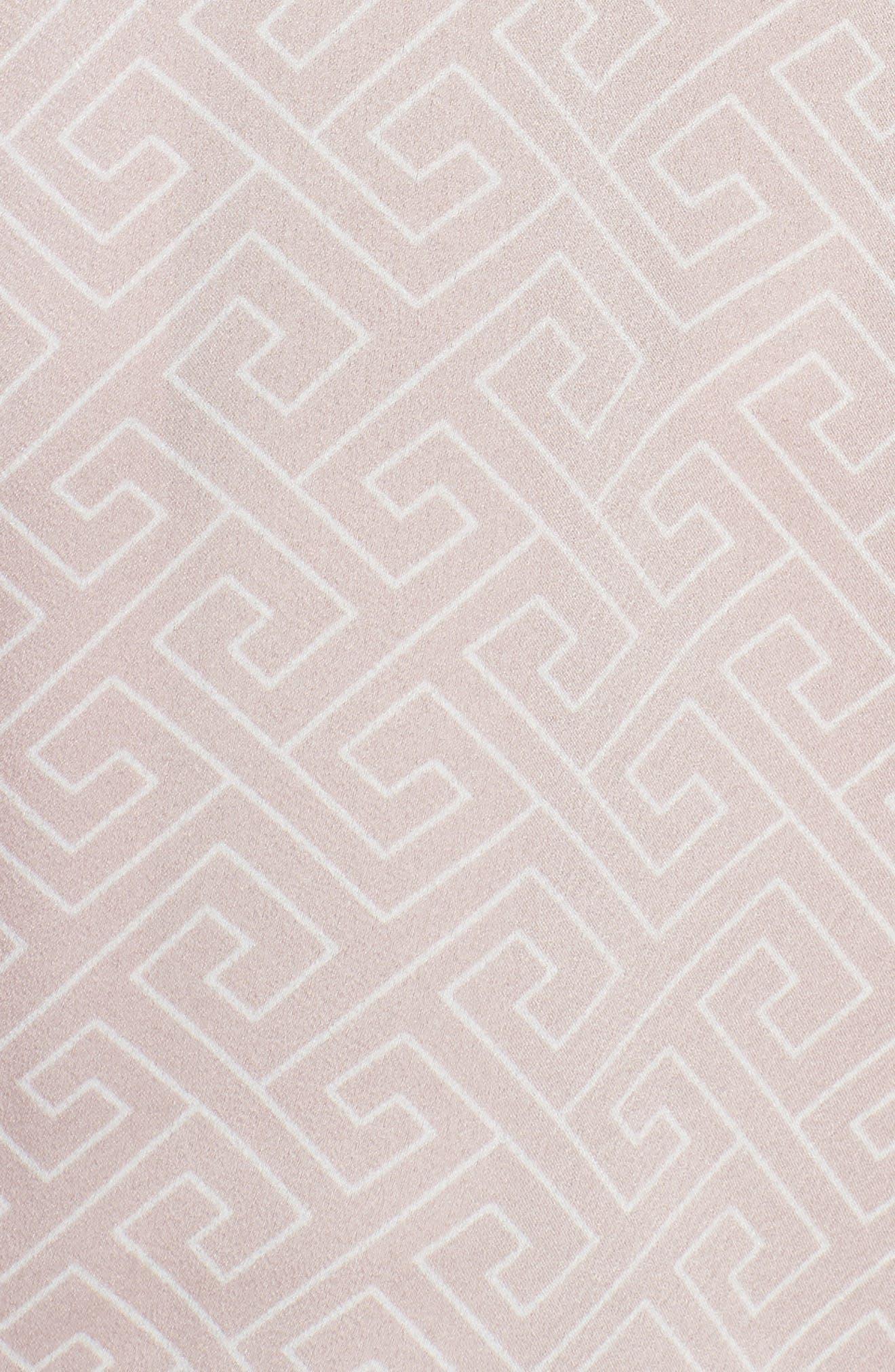 Labyrinth Satin Pajamas,                             Alternate thumbnail 5, color,                             Rose Beige