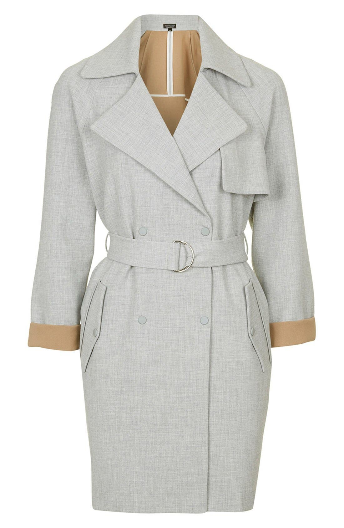 Alternate Image 3  - Topshop Double Breasted Trench Coat
