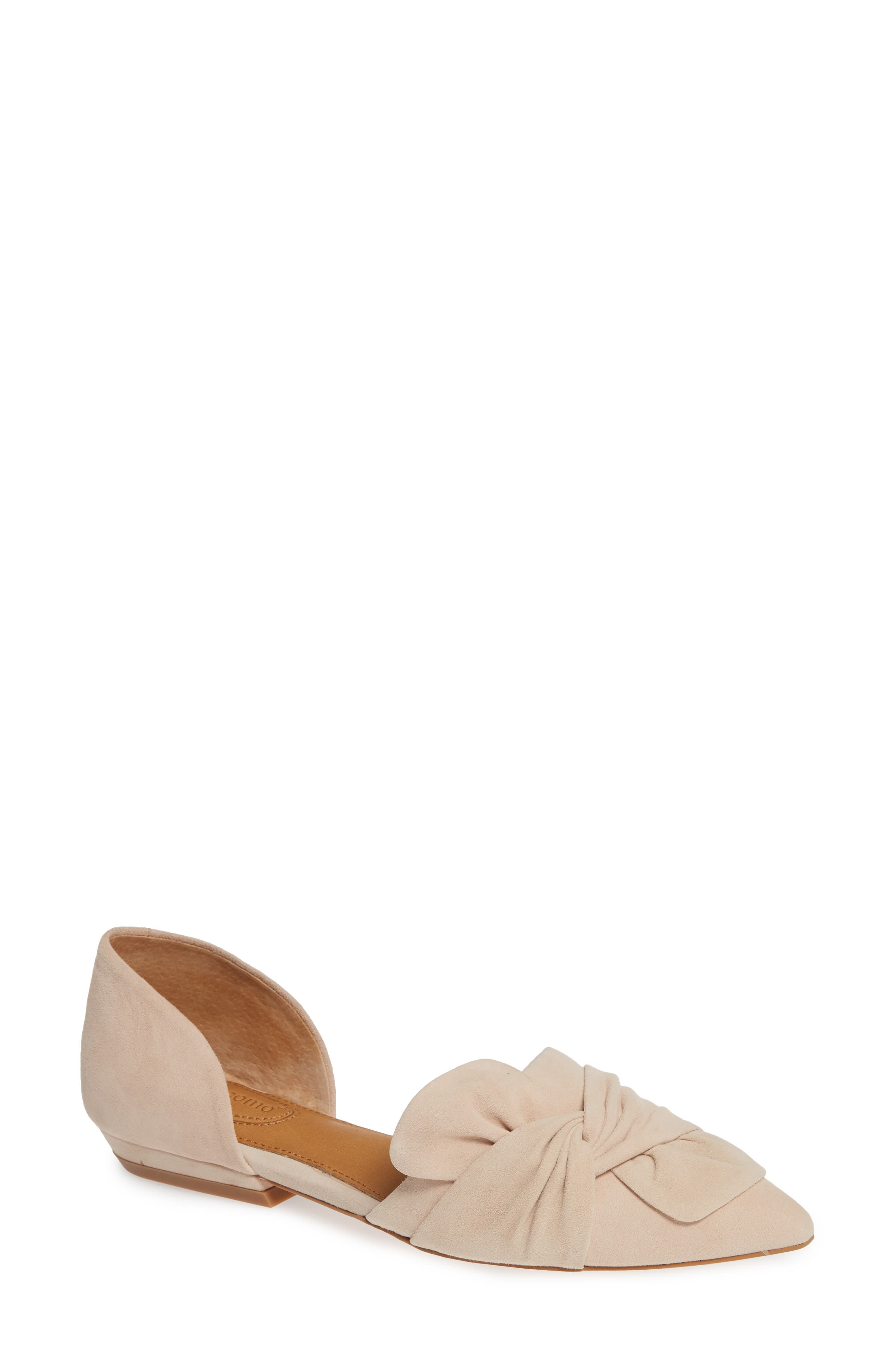 Mollie d'Orsay Flat,                             Main thumbnail 1, color,                             Nude Suede