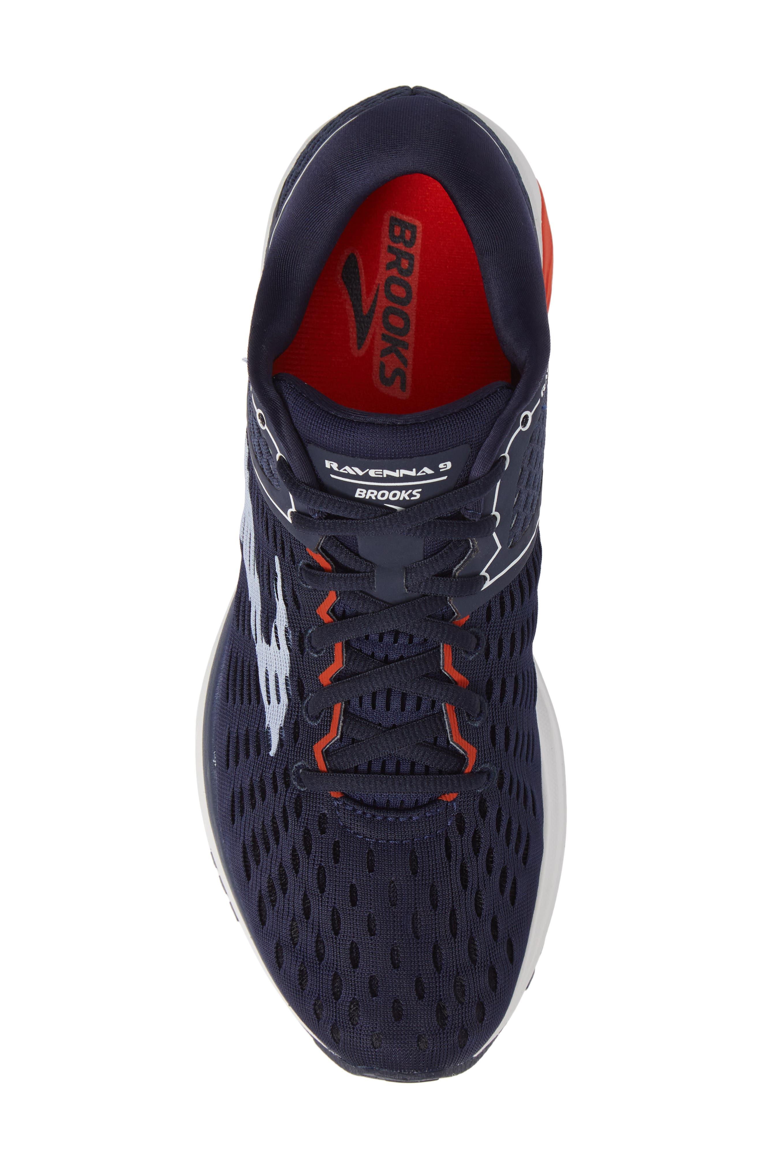 Ravenna 9 Running Shoe,                             Alternate thumbnail 3, color,                             Navy/ White/ Orange