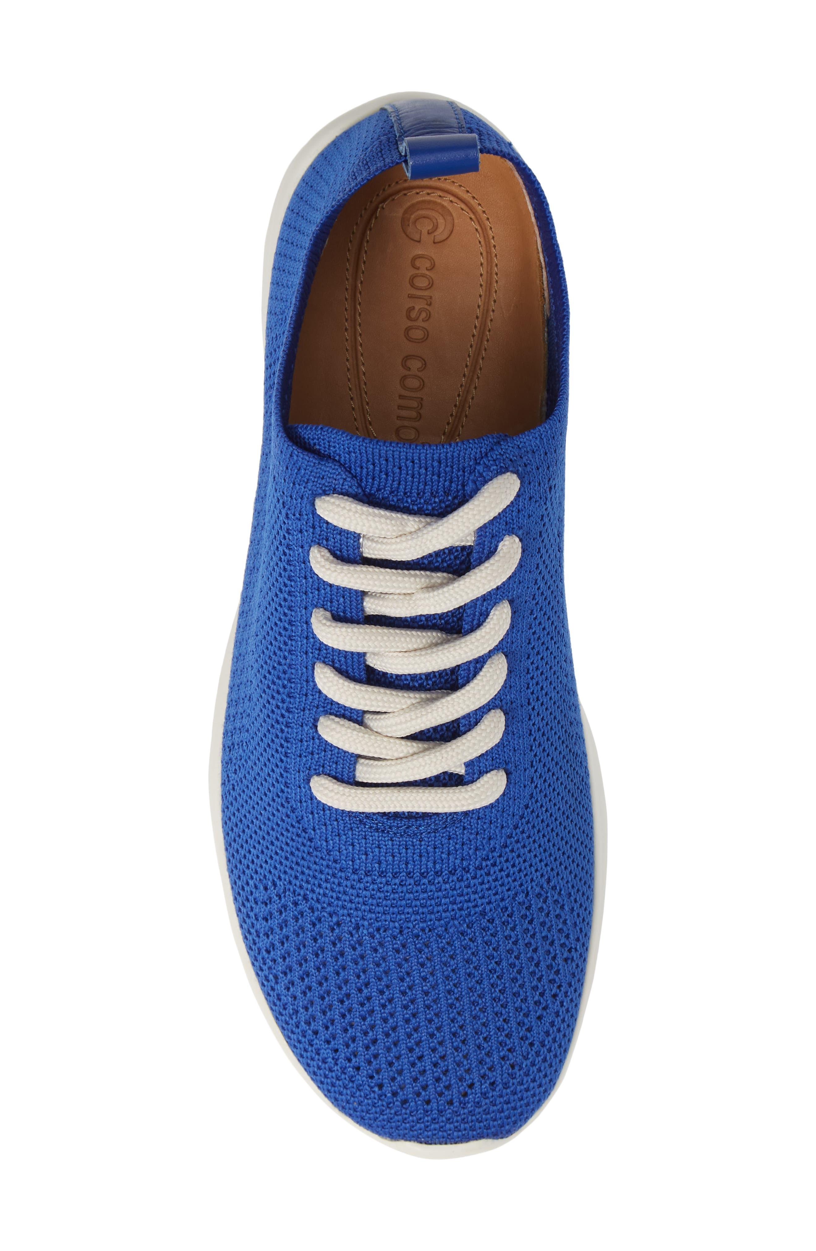 Randee Sneaker,                             Alternate thumbnail 3, color,                             Blue Fabric