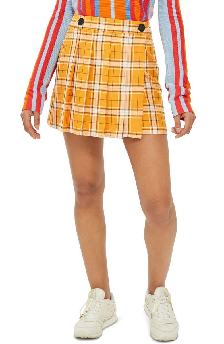 Summer Check Kilt Miniskirt