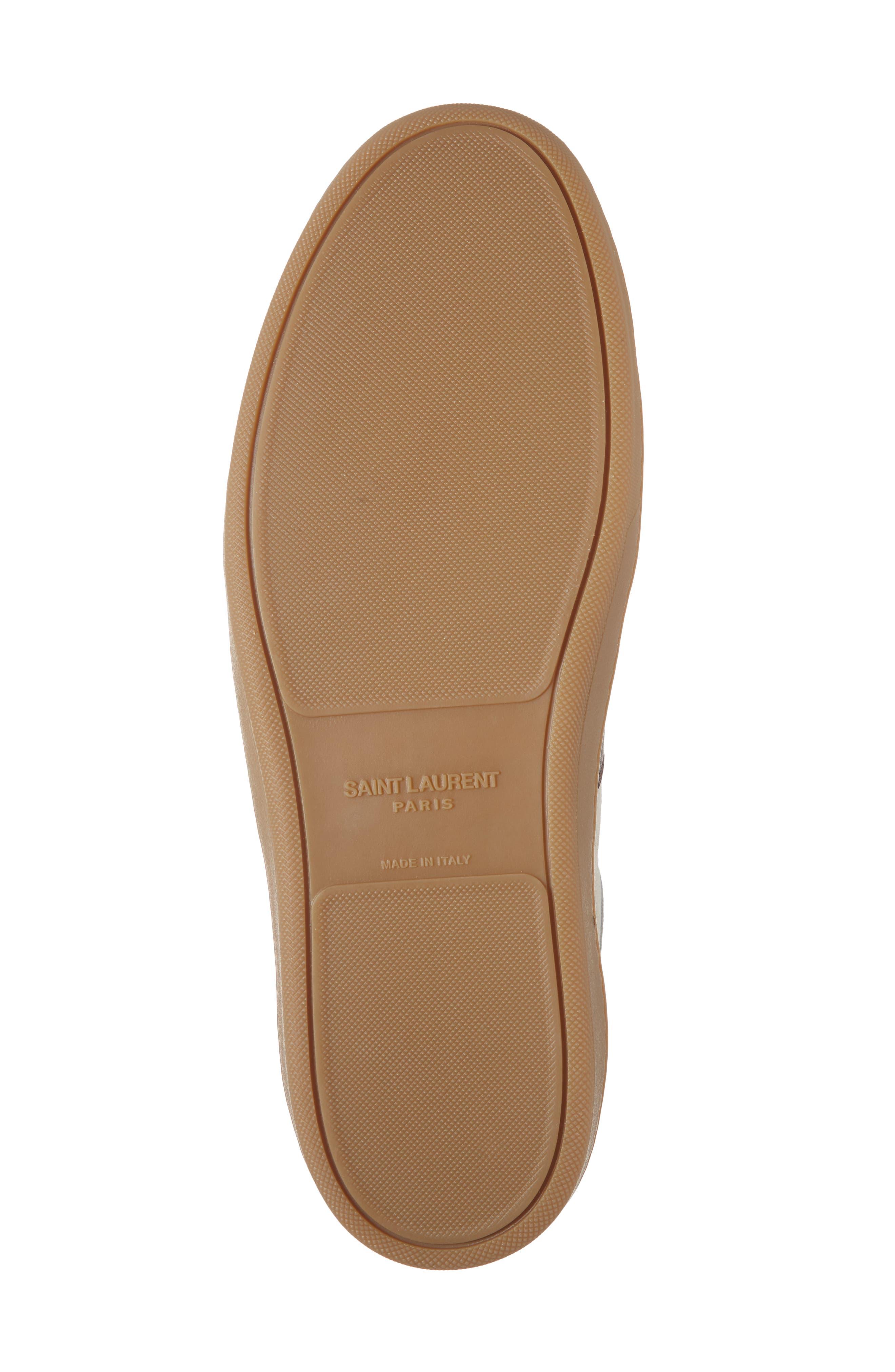 SL/10H Signature Court Classic High-Top Sneaker,                             Alternate thumbnail 3, color,                             Milk/ Barolo
