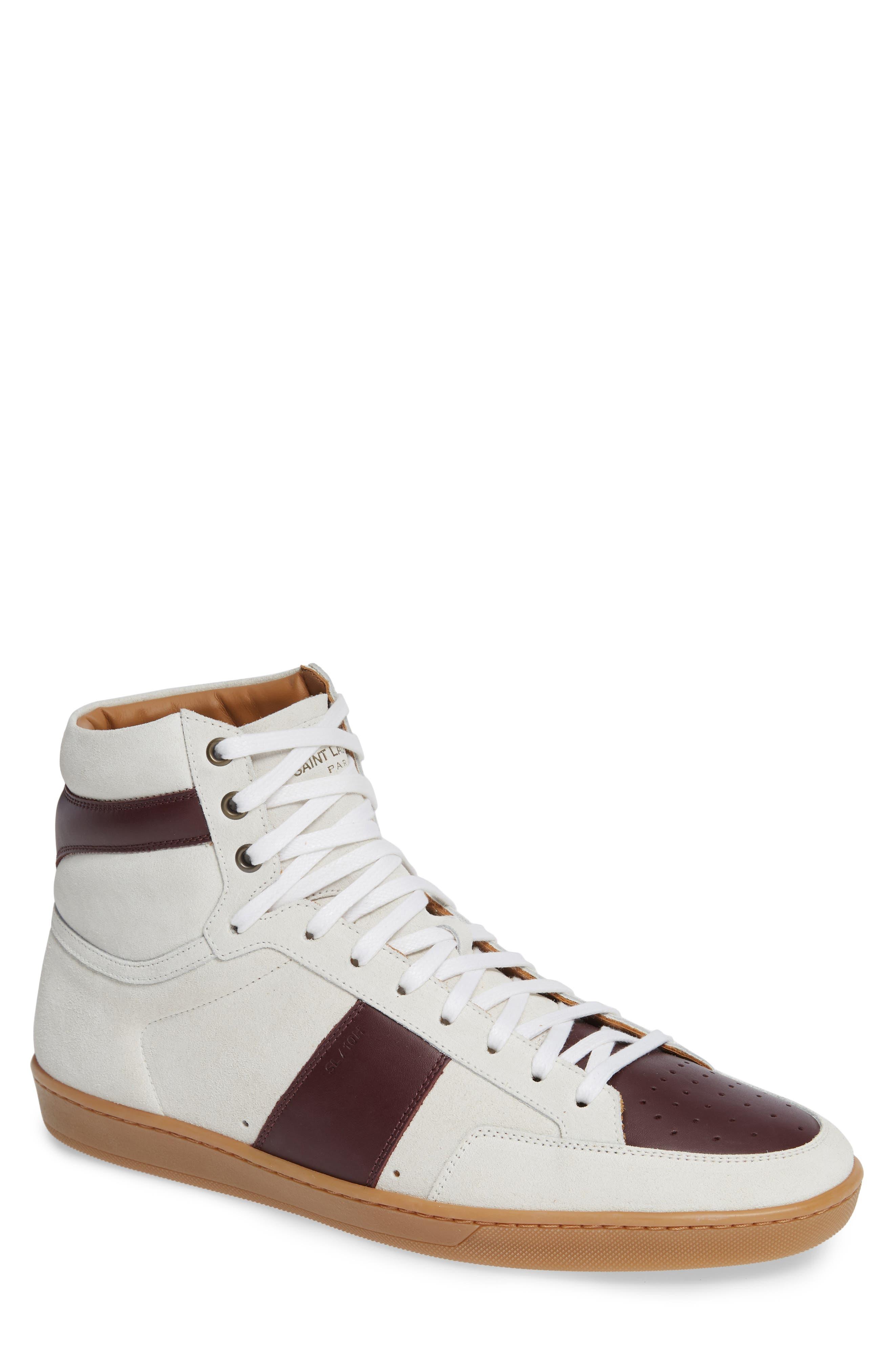 SL/10H Signature Court Classic High-Top Sneaker,                             Main thumbnail 1, color,                             Milk/ Barolo