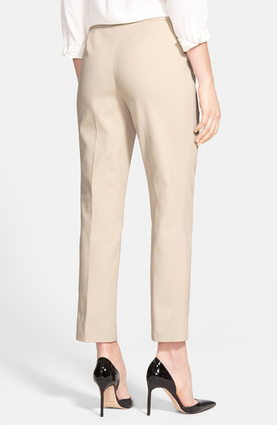 Alternate Image 2  - Nordstrom Collection 'Veloria' Slim Ankle Pants