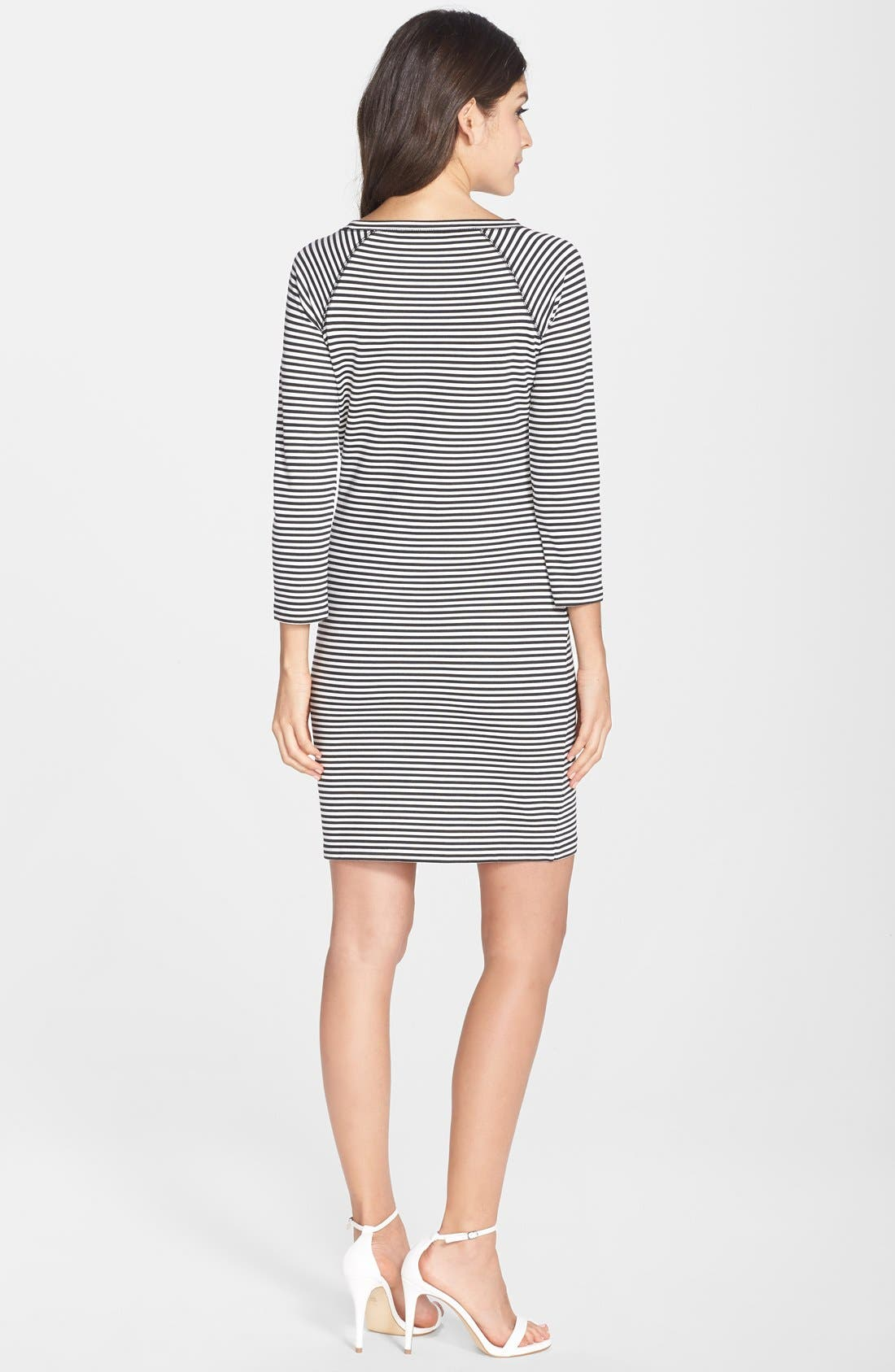 Alternate Image 2  - French Connection 'Licorice Lines' Stripe Jersey Shift Dress