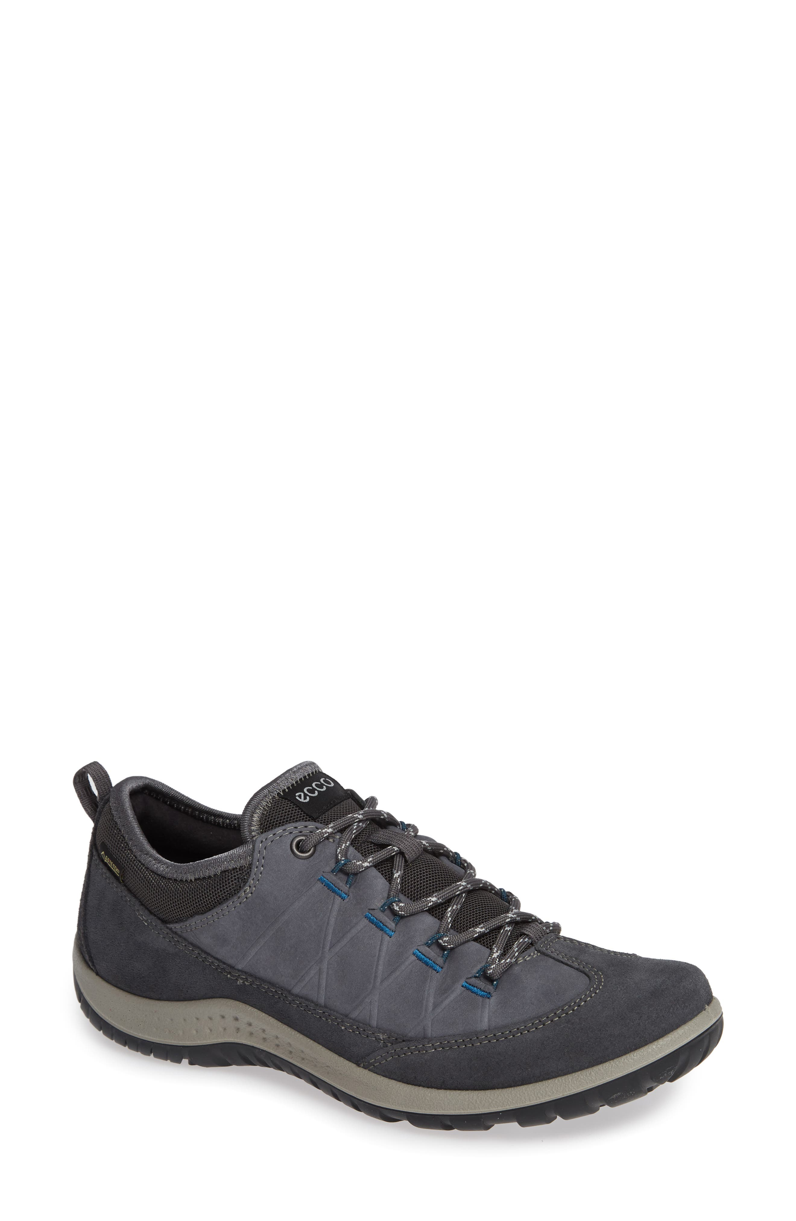 'Aspina GTX' Waterproof Sneaker,                             Main thumbnail 1, color,                             Magnet Nubuck Leather