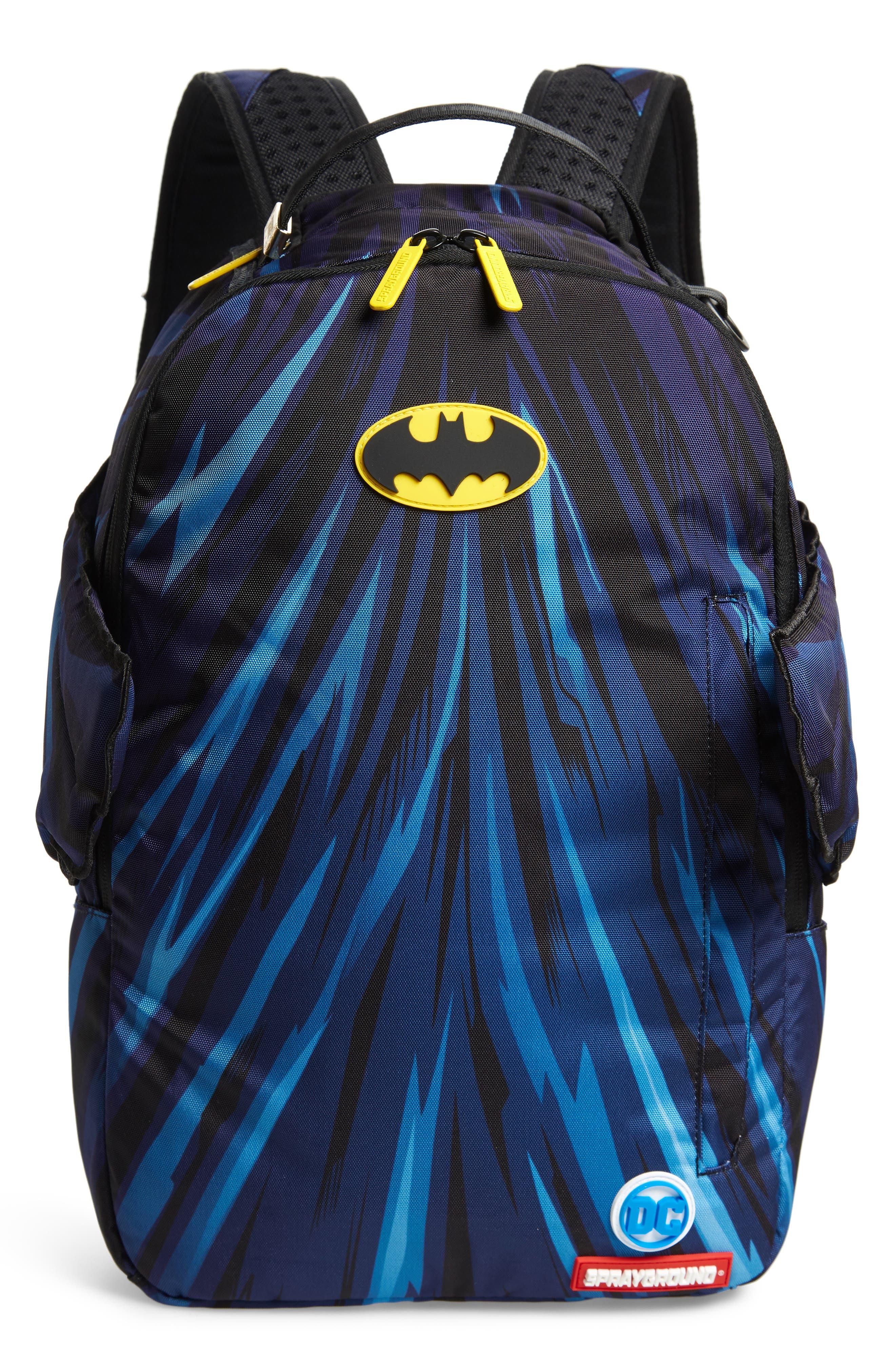 SPRAYGROUND Batman Cape Wings Backpack - Grey in Grey/ Black