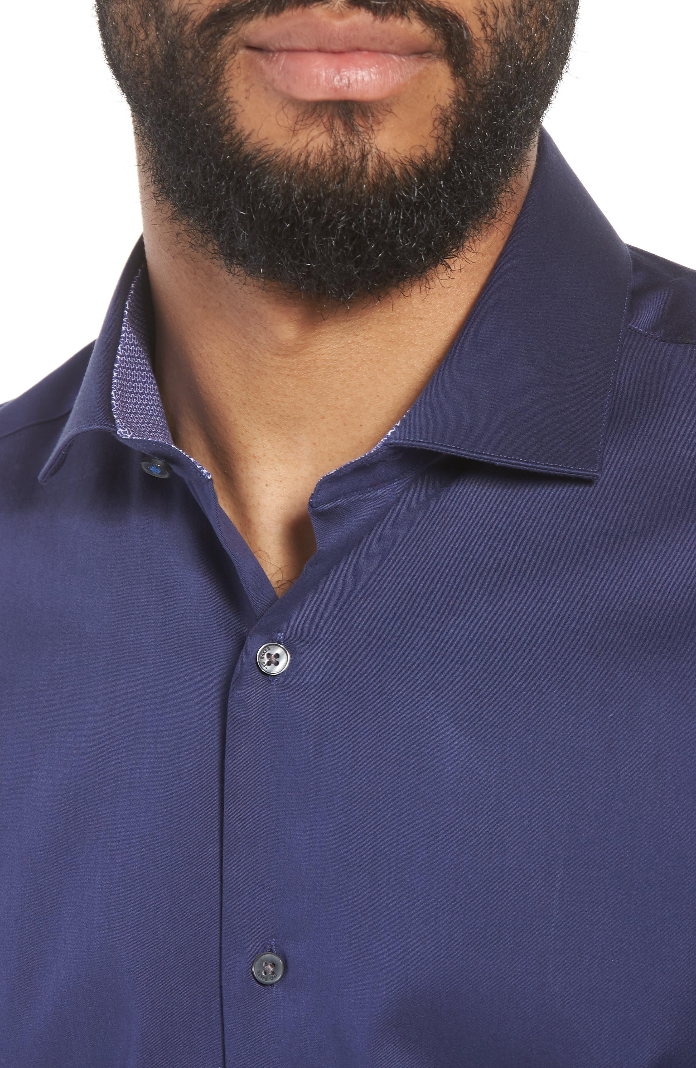 Endurance Bookers Slim Fit Solid Dress Shirt,                             Alternate thumbnail 2, color,                             Navy