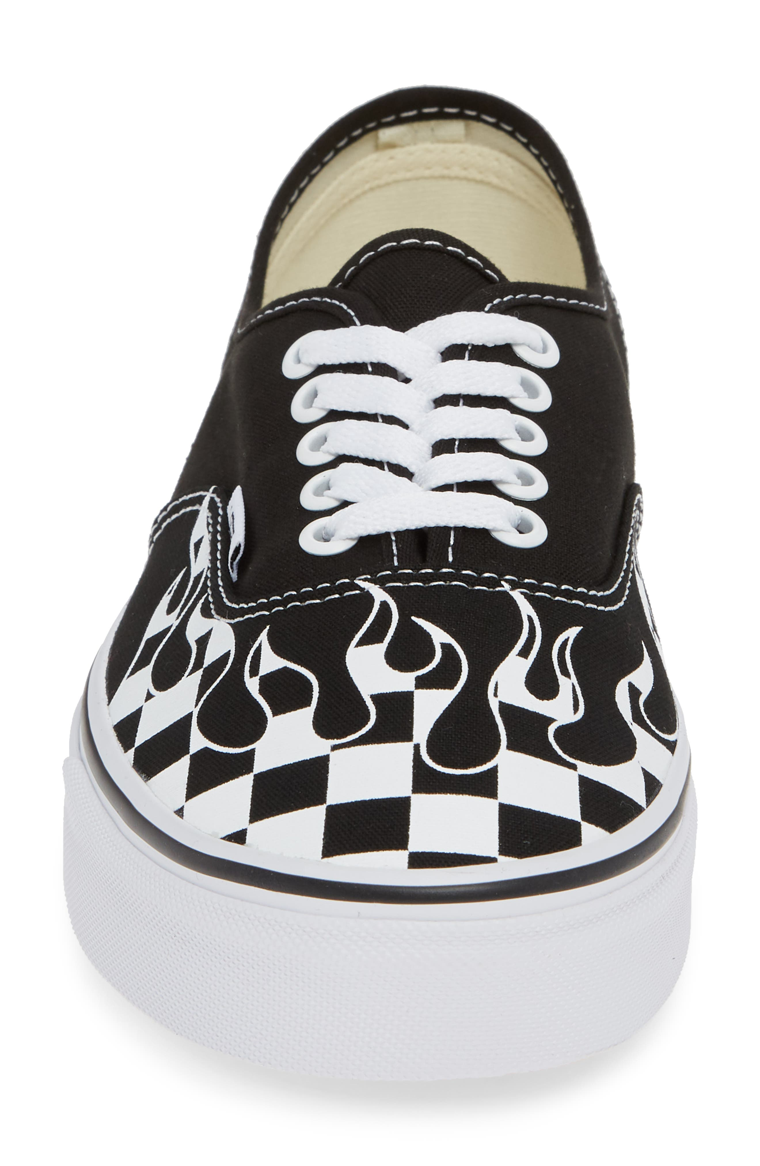 Authentic Sneaker,                             Alternate thumbnail 5, color,                             Black/ True White