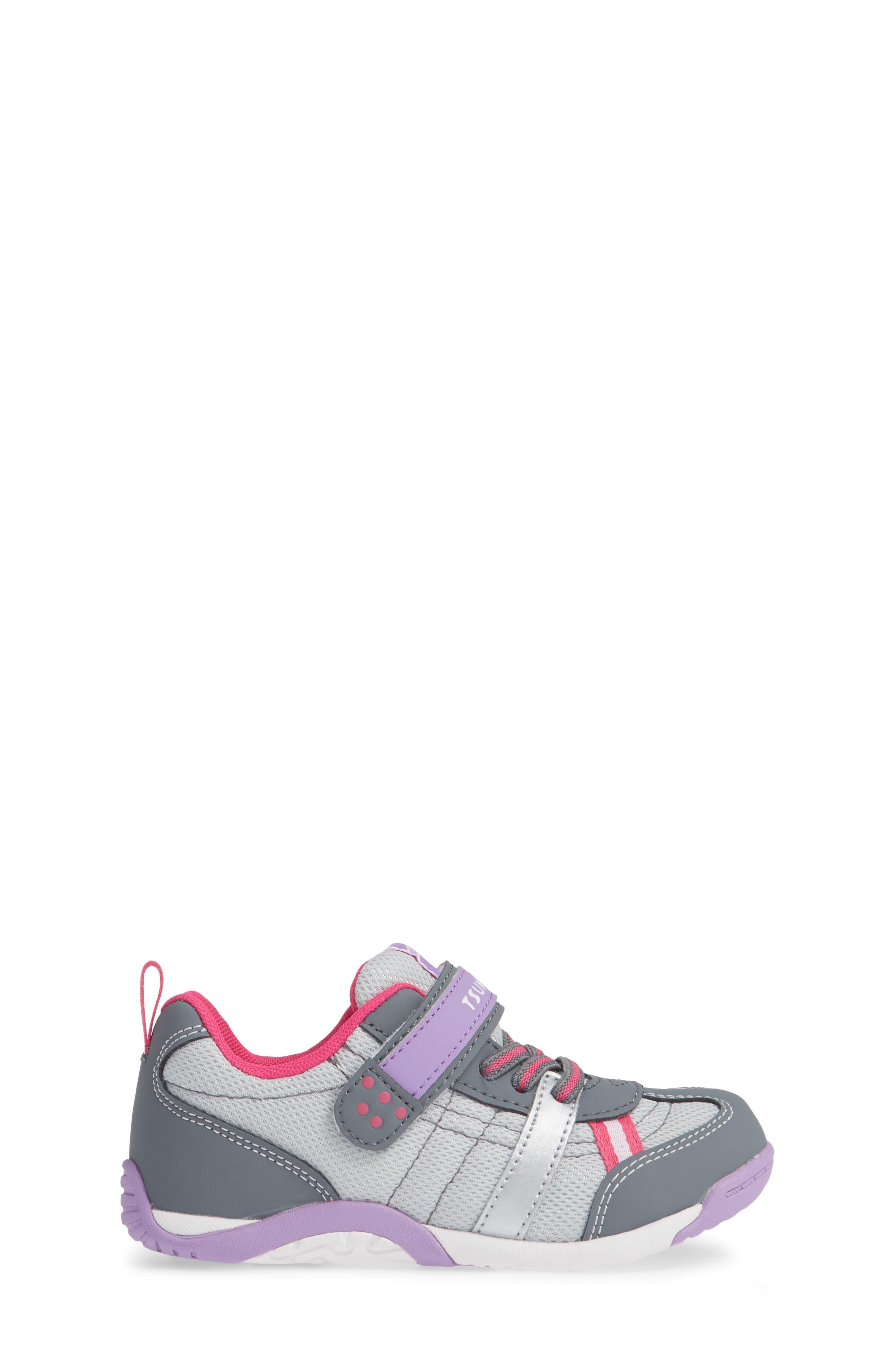Kaz Washable Sneaker,                             Alternate thumbnail 3, color,                             Gray/ Purple