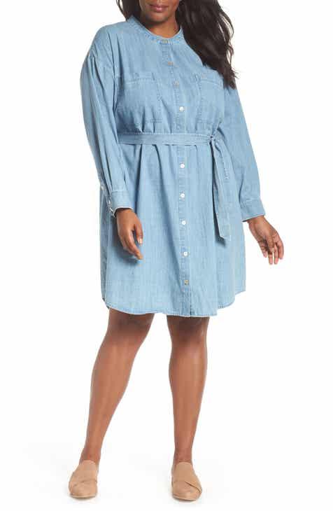 Womens Denim Plus Size Dresses Nordstrom