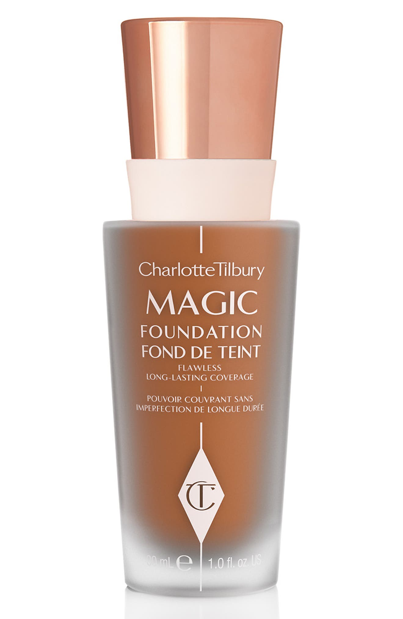 CHARLOTTE TILBURY MAGIC FOUNDATION BROAD SPECTRUM SPF 15 - 10 DARK