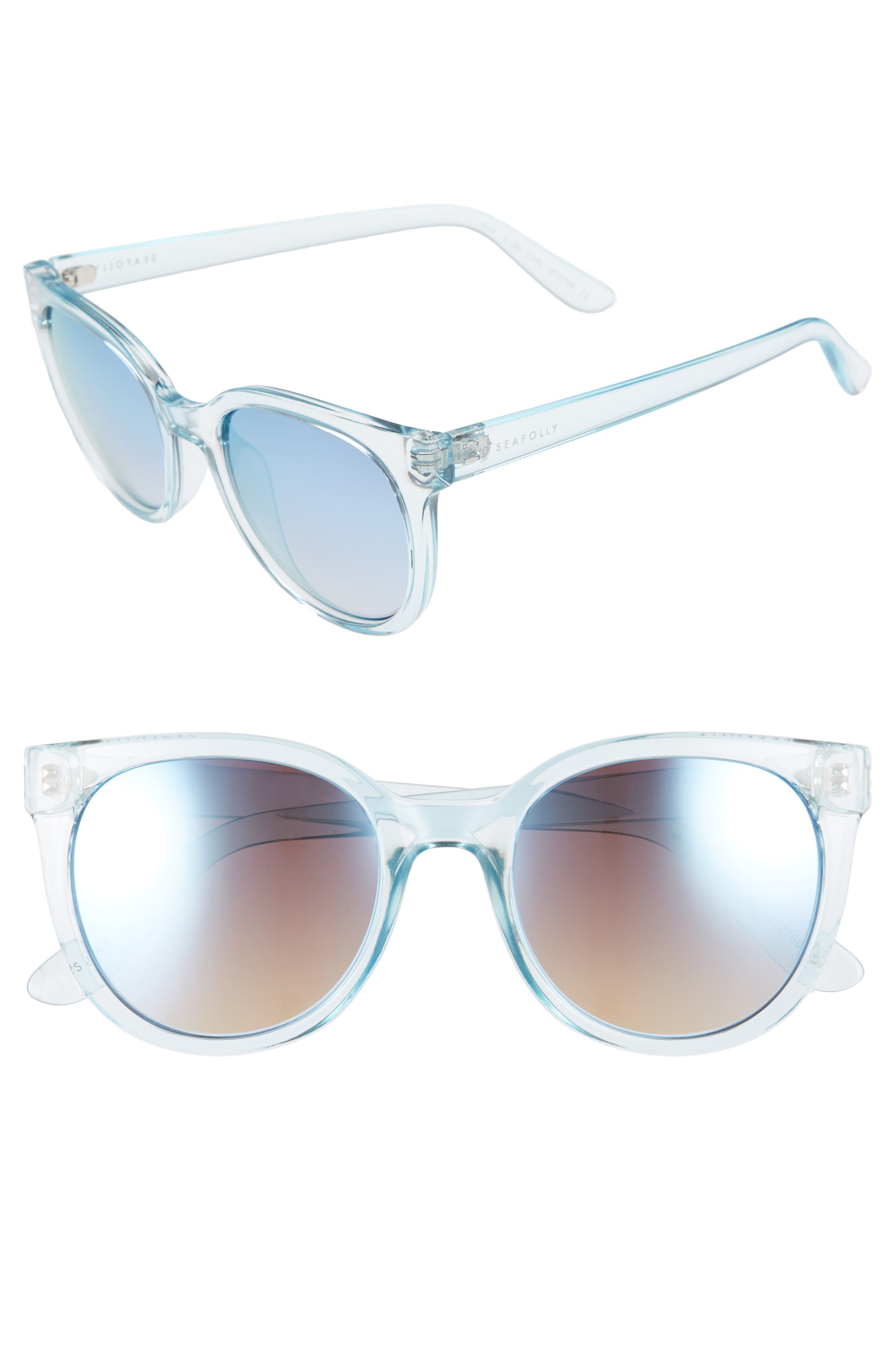 SEAFOLLY CURL CURL 53MM SUNGLASSES - CORNFLOWER/ BLUE