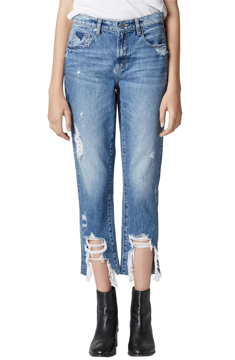 The Madison Ripped Crop Straight Leg Jeans