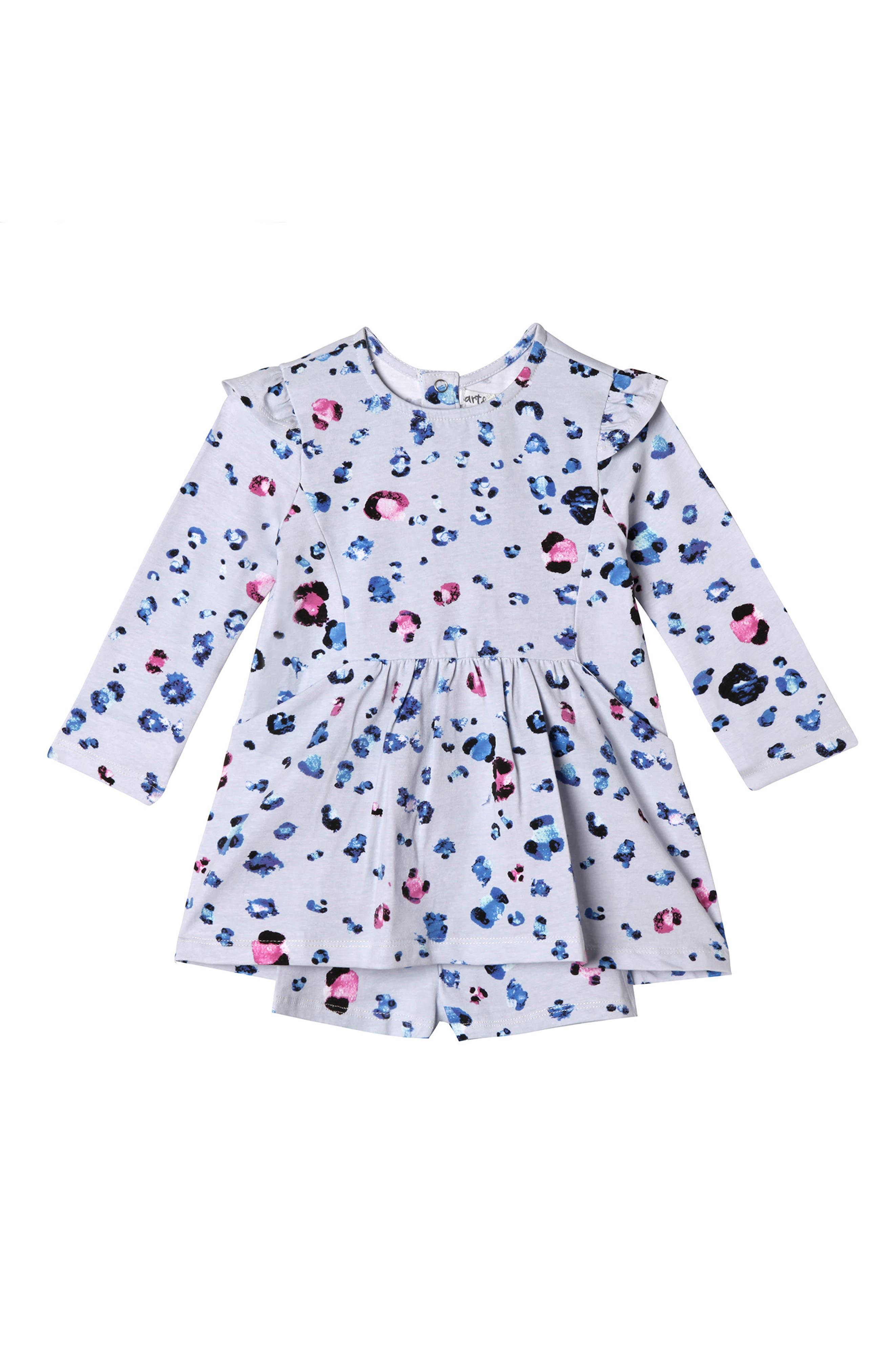 Leah Spot Dress & Shorts Set,                             Main thumbnail 1, color,                             Spot
