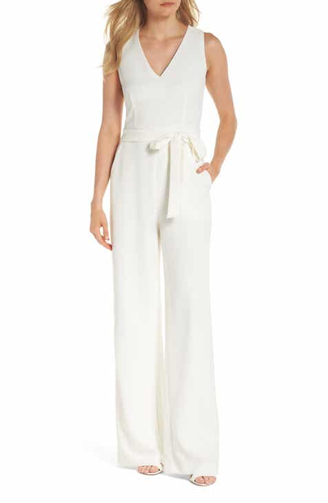 6cfe86cd731f Vince Camuto Tie Front Wide Leg Jumpsuit (Regular   Petite)