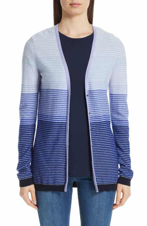 St. John Collection Stripe Cashmere Cardigan by ST. JOHN COLLECTION