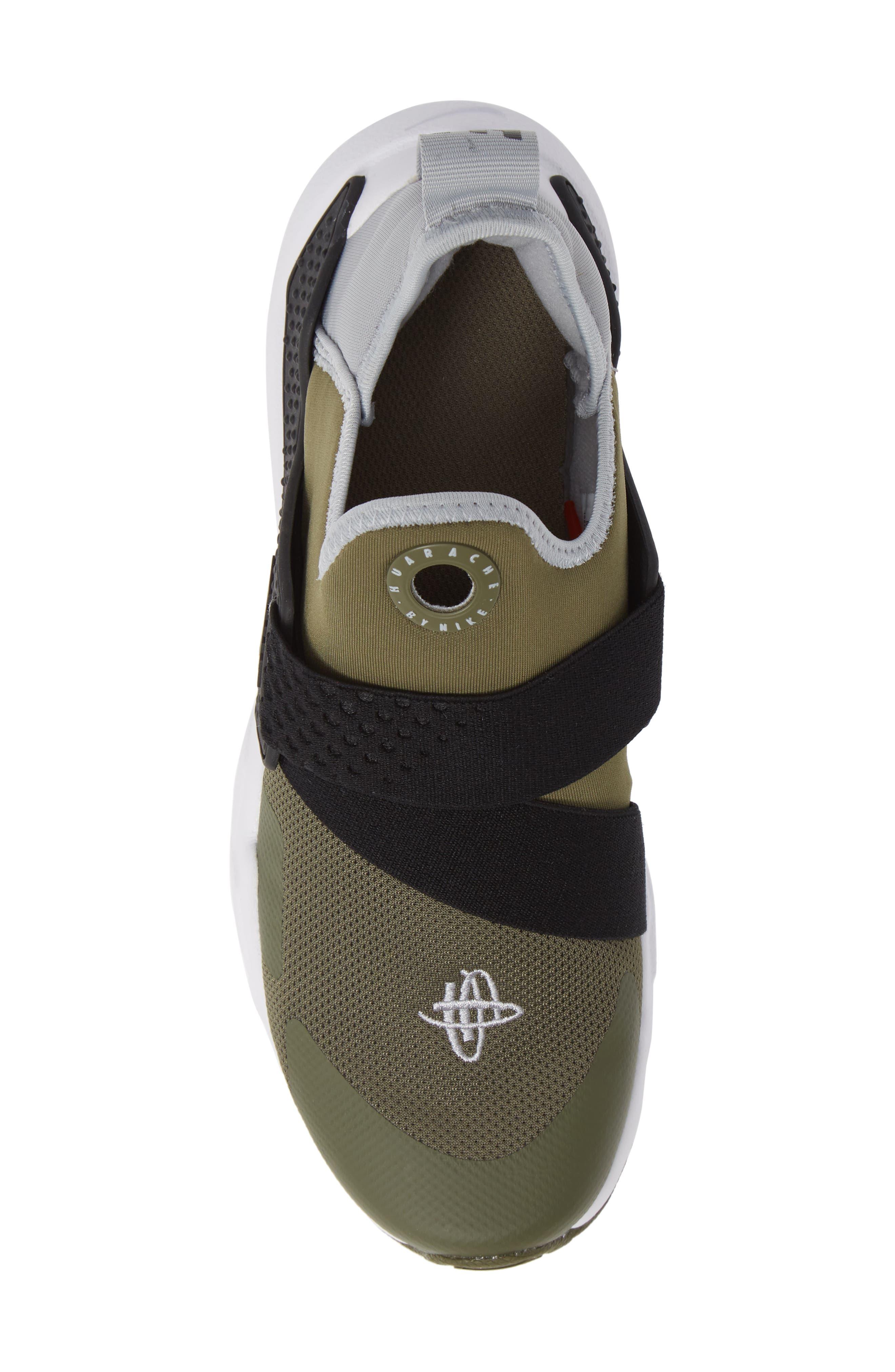 Huarache Extreme Sneaker,                             Alternate thumbnail 4, color,                             Olive/ Wolf Grey/ Black/ White