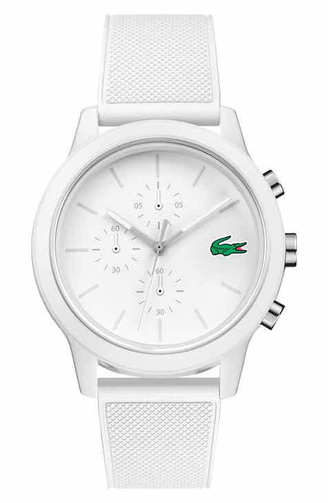 9b8b592e7 Lacoste 12.12 Chronograph Silicone Band Watch, 44mm