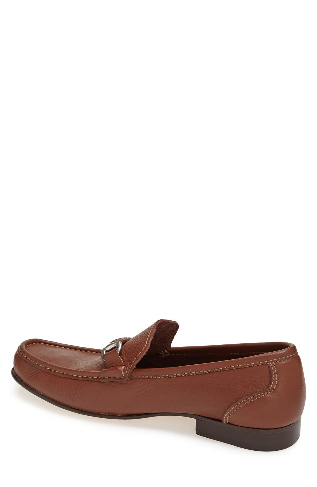'San Remo' Leather Bit Loafer,                             Alternate thumbnail 2, color,                             Brown