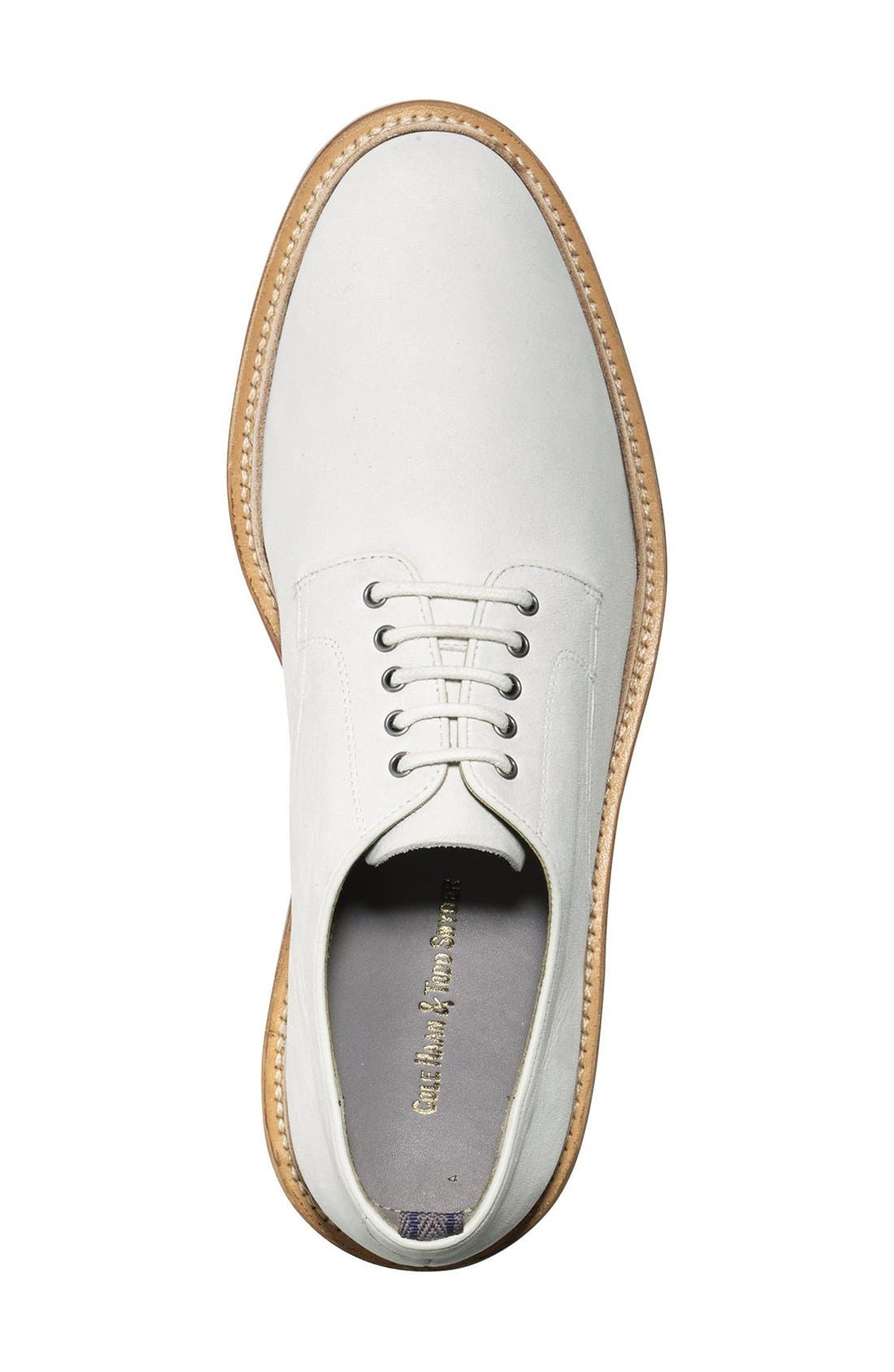 'Willet' Nubuck Plain Toe Derby,                             Alternate thumbnail 4, color,                             Ivory