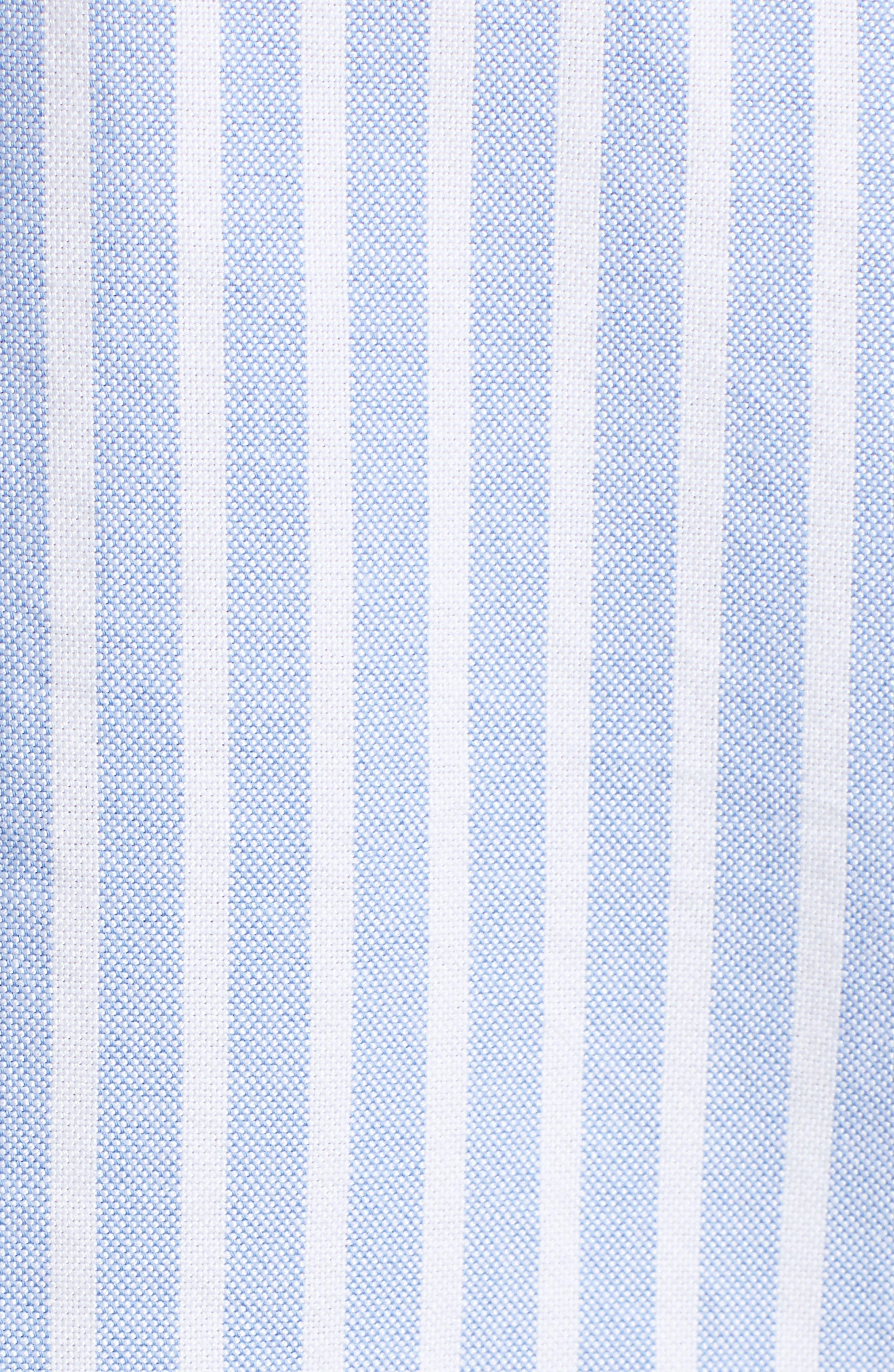 Classics Stripe Shirt,                             Alternate thumbnail 5, color,                             Light Blue / Bright White