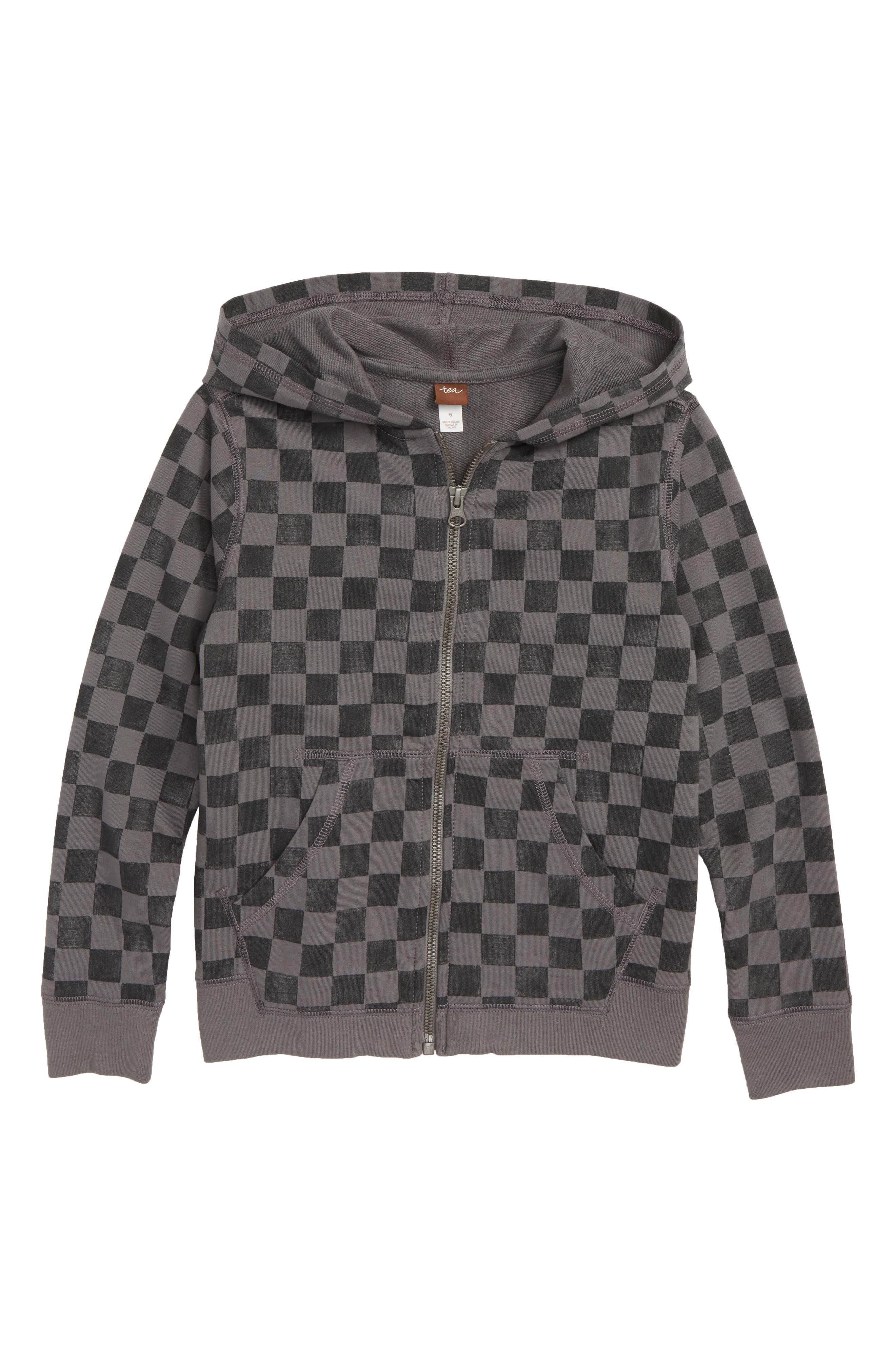 Checkerboard Zip Hoodie,                             Main thumbnail 1, color,                             Soho Squares
