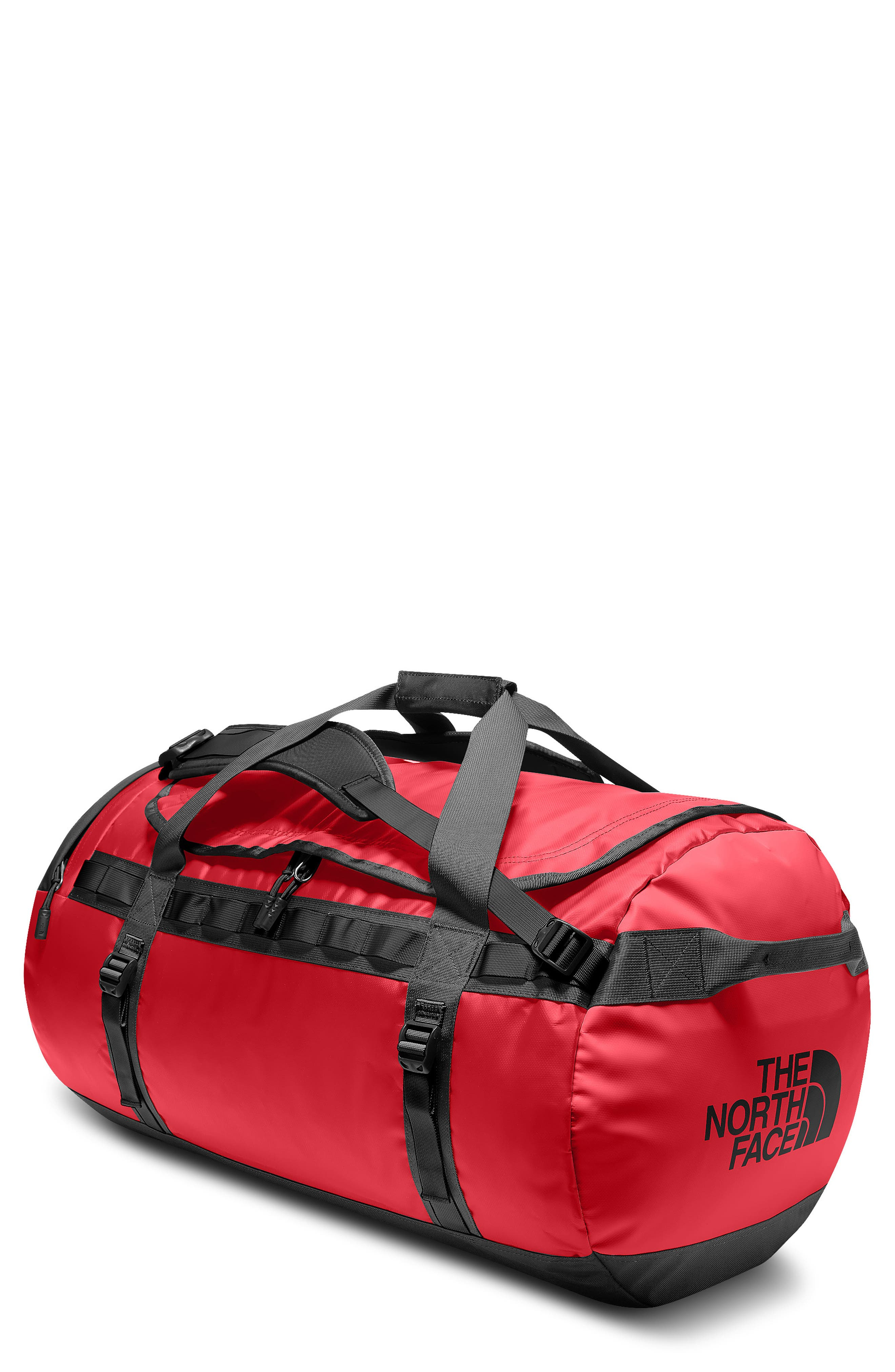 Base Camp Large Duffel Bag,                             Main thumbnail 1, color,                             Red/ Black