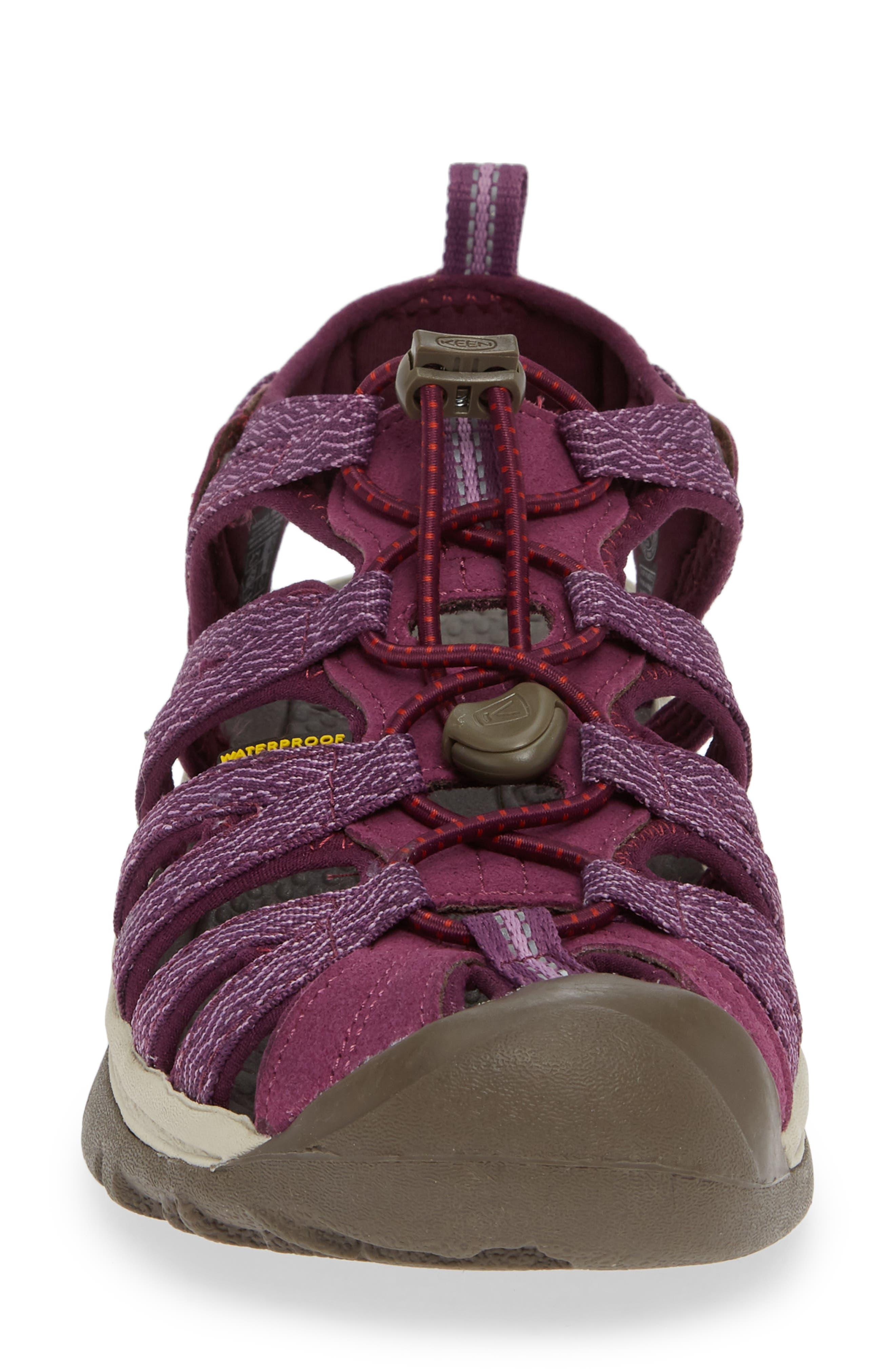 'Whisper' Water Friendly Sport Sandal,                             Alternate thumbnail 4, color,                             Grape Kiss/ Grape Wine